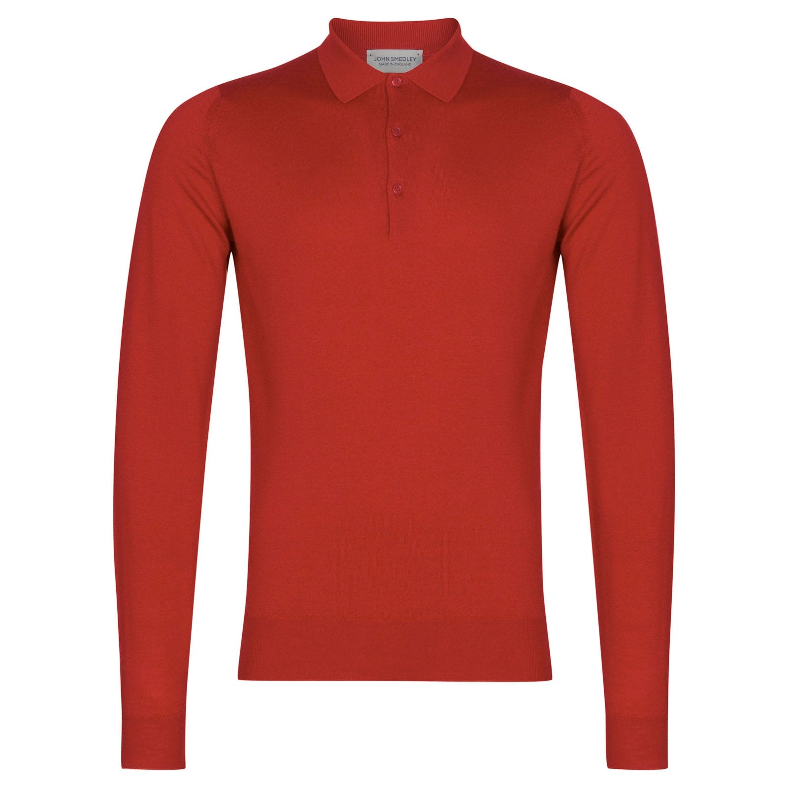 John Smedley Belper in Red Admiral Shirt-XLG
