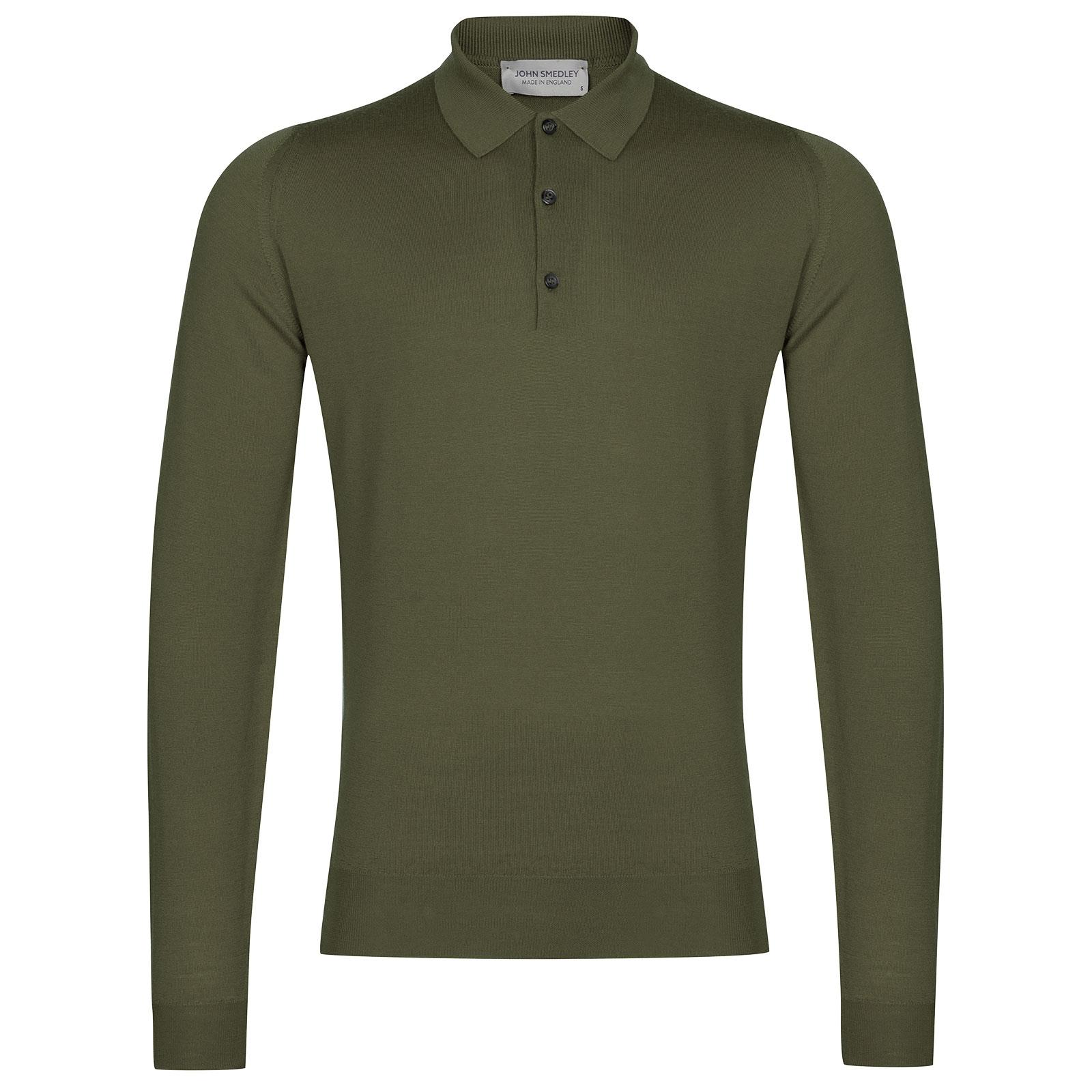 John Smedley Belper in Sepal Green Shirt-MED