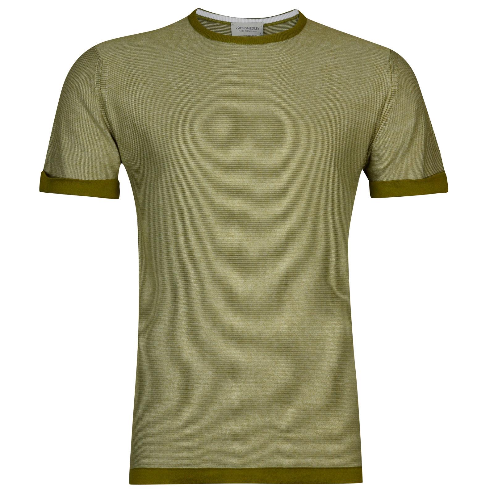 John Smedley benhope Sea Island Cotton T-shirt in Lumsdale