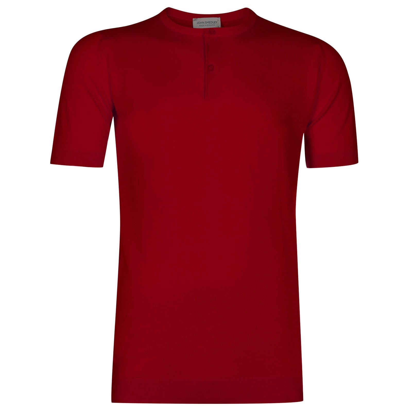 John Smedley Bennett Sea Island Cotton T-shirt in Dandy Red-S