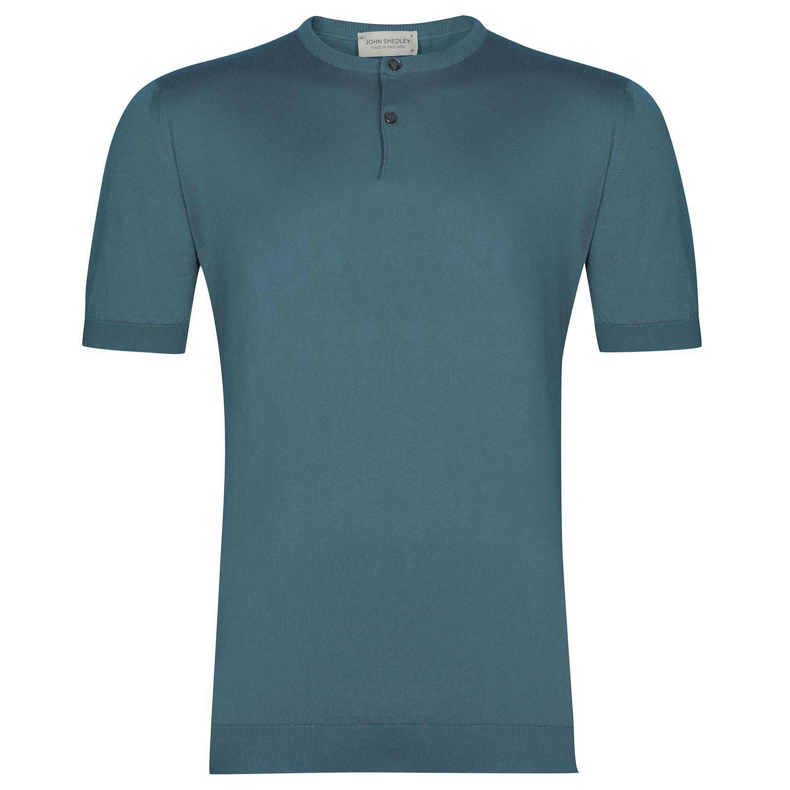 John Smedley Bennett in Dewdrop Blue T-Shirt-XXL