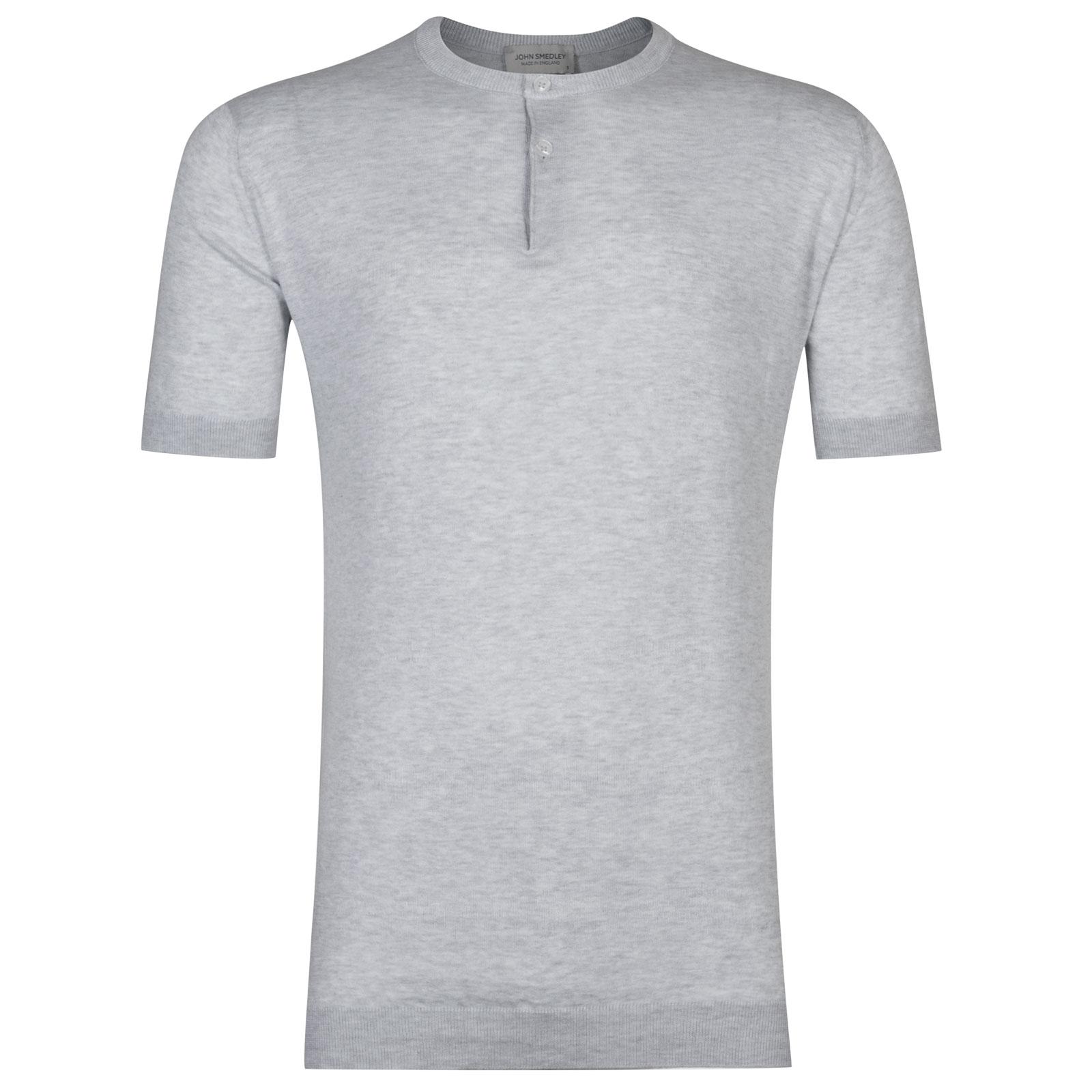 John Smedley Bennett Sea Island Cotton T-shirt in Feather Grey-XXL