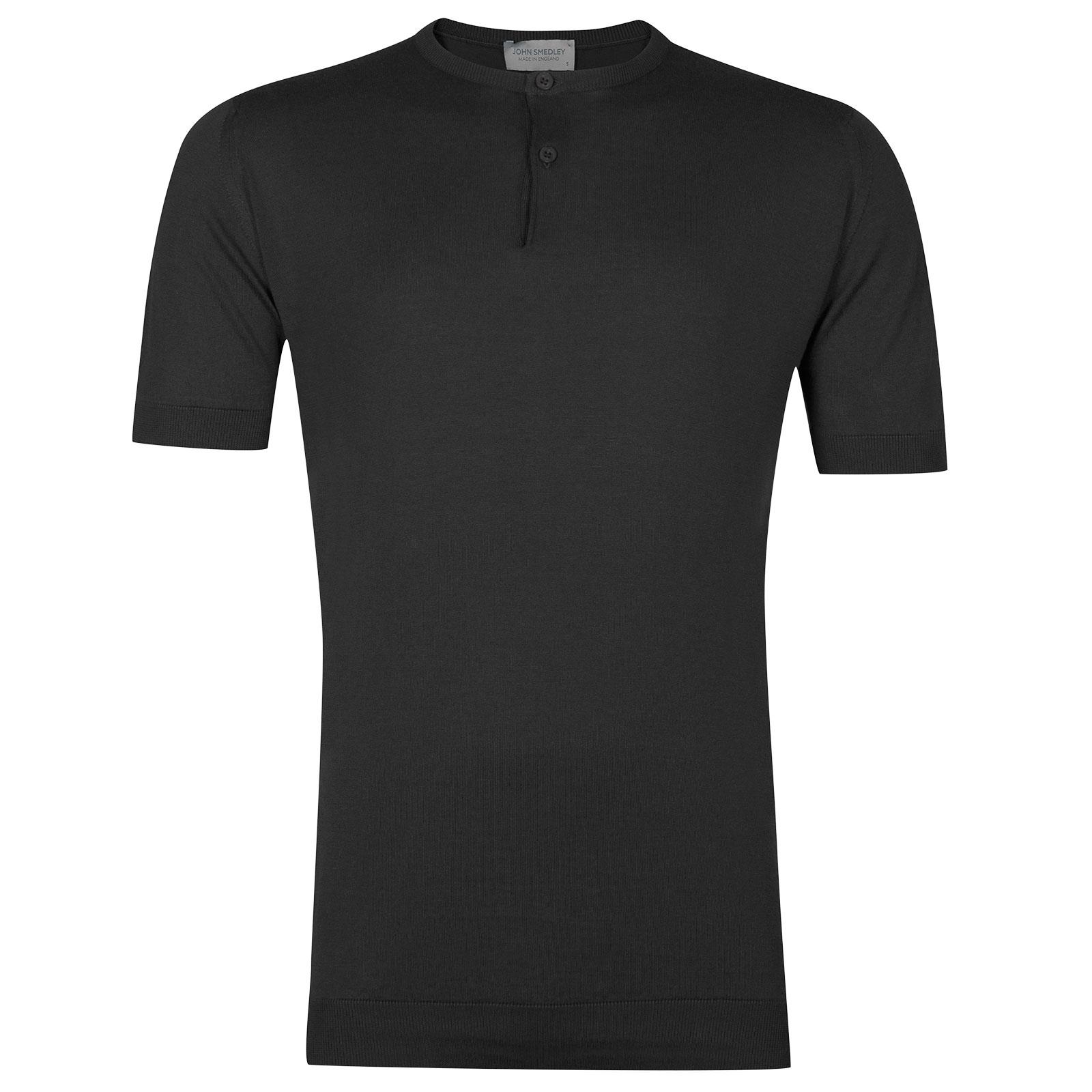 John Smedley Bennett Sea Island Cotton T-shirt in Flannel Grey-XXL