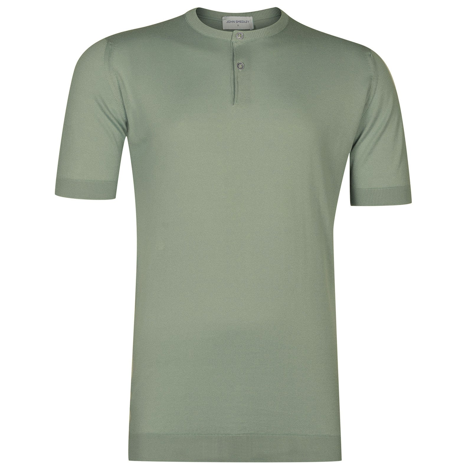 John Smedley Bennett Sea Island Cotton T-shirt in Gauge Green-S