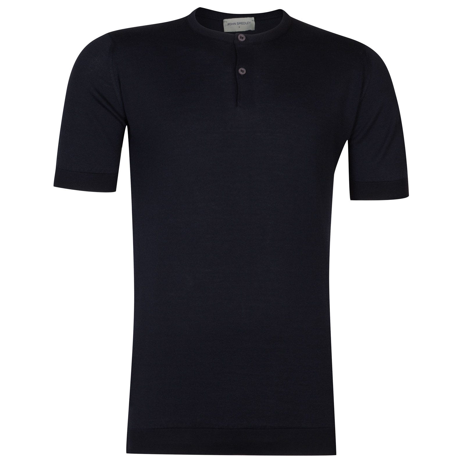 John Smedley Bennett Sea Island Cotton T-shirt in Navy-XL