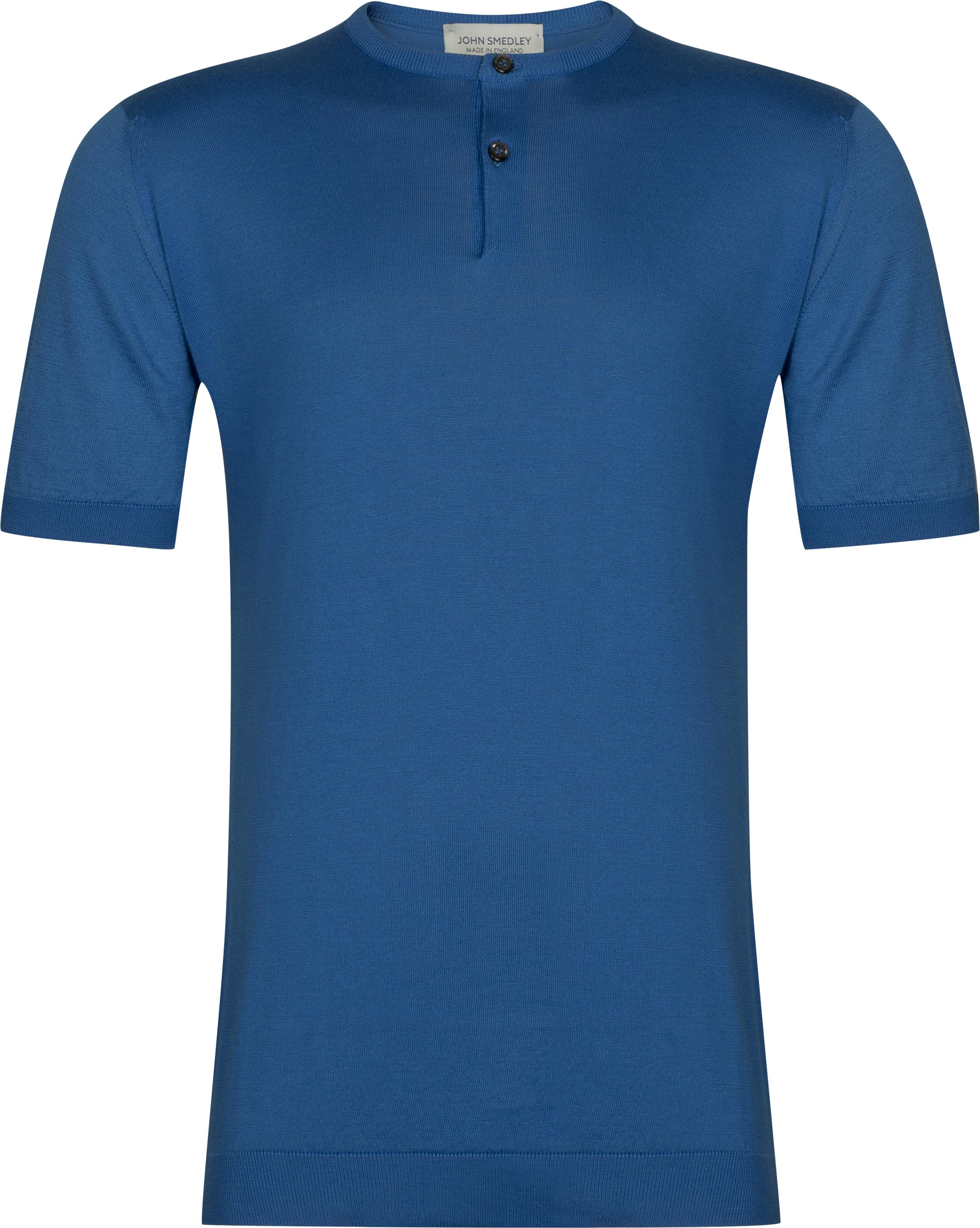 John Smedley Bennett in Statice Blue T-Shirt-MED