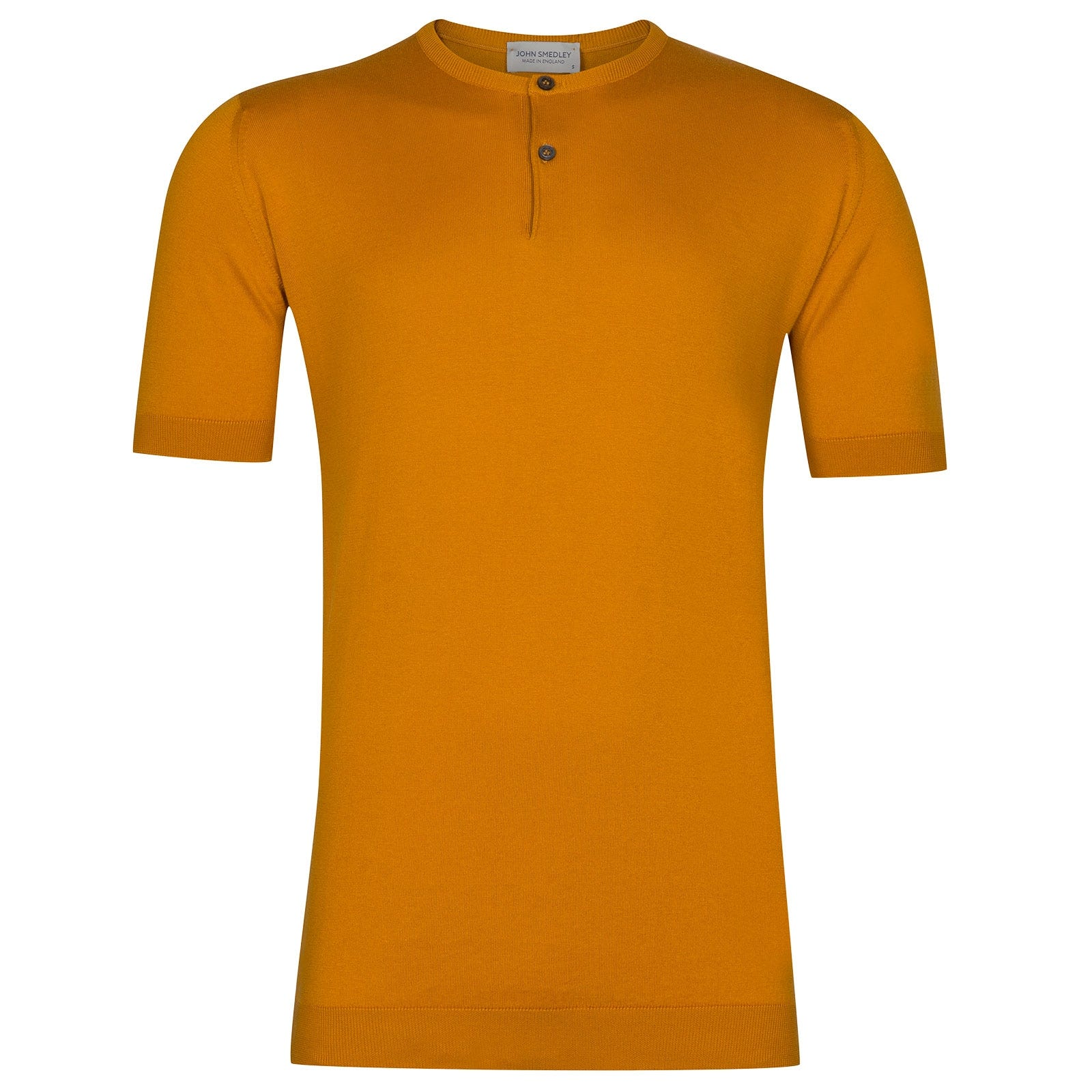 John Smedley Bennett Sea Island Cotton T-shirt in Topstitch Orange-L