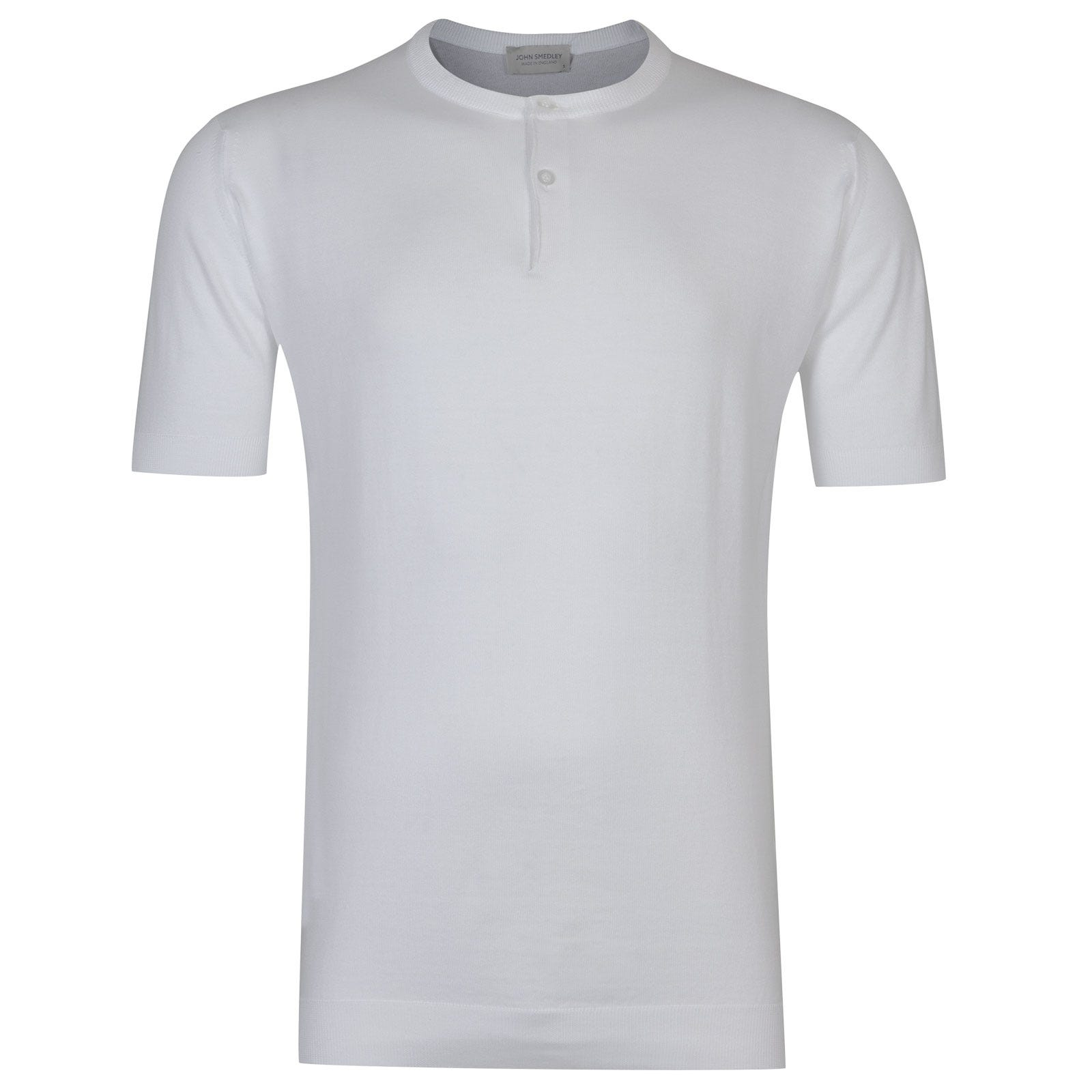 John Smedley Bennett Sea Island Cotton T-shirt in White-XXL