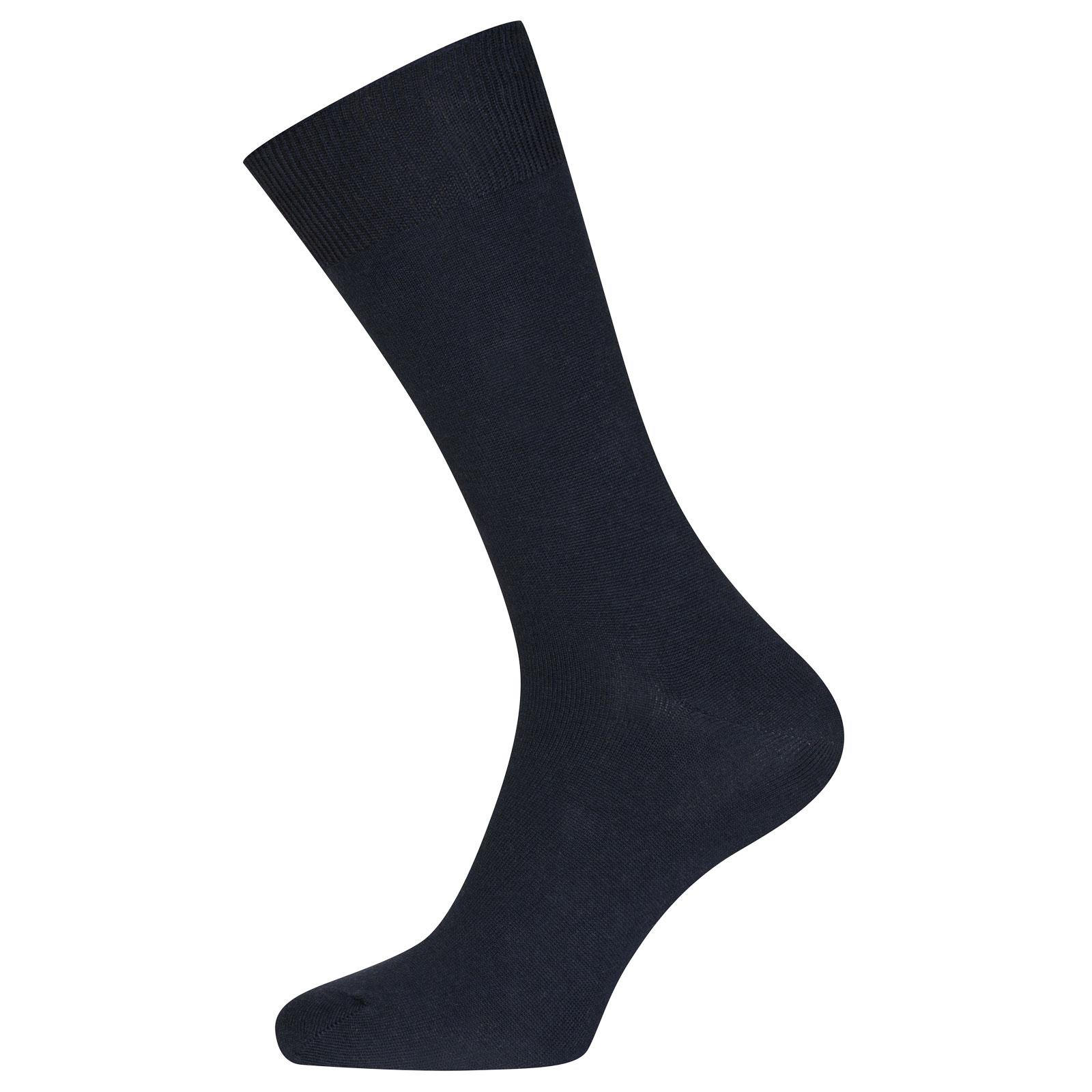 John Smedley Beta Merino Wool Socks in Midnight-M/L