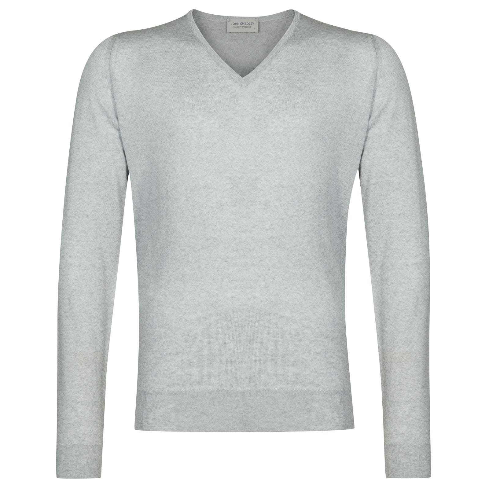 John Smedley Blenheim Merino Wool Pullover in Bardot Grey-XL