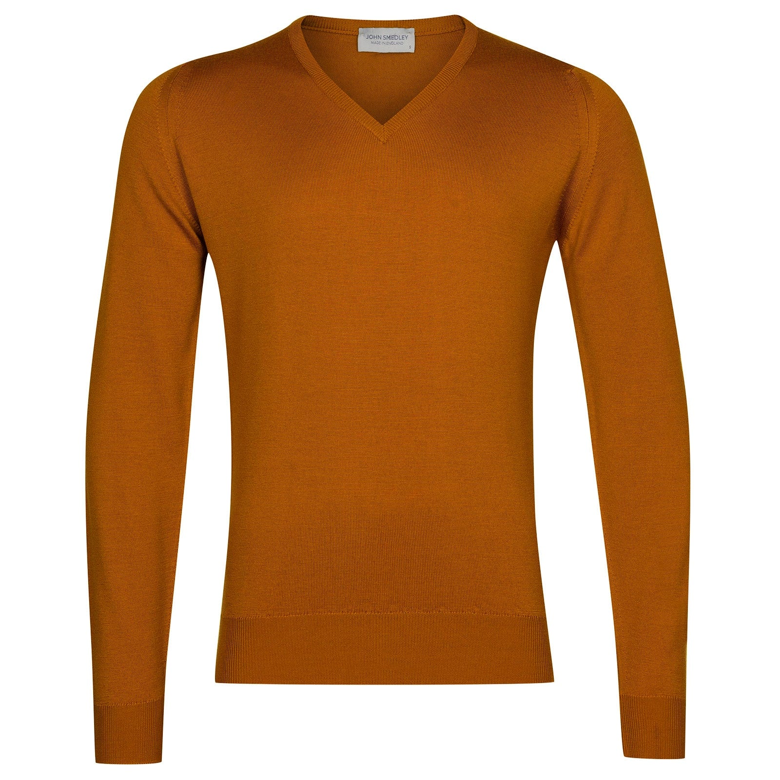 John Smedley Blenheim Merino Wool Pullover in Bronze-XL