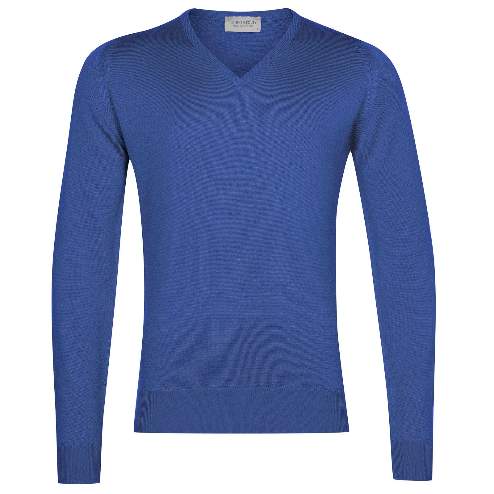 John Smedley Blenheim Merino Wool Pullover in Chambray Blue-XXL