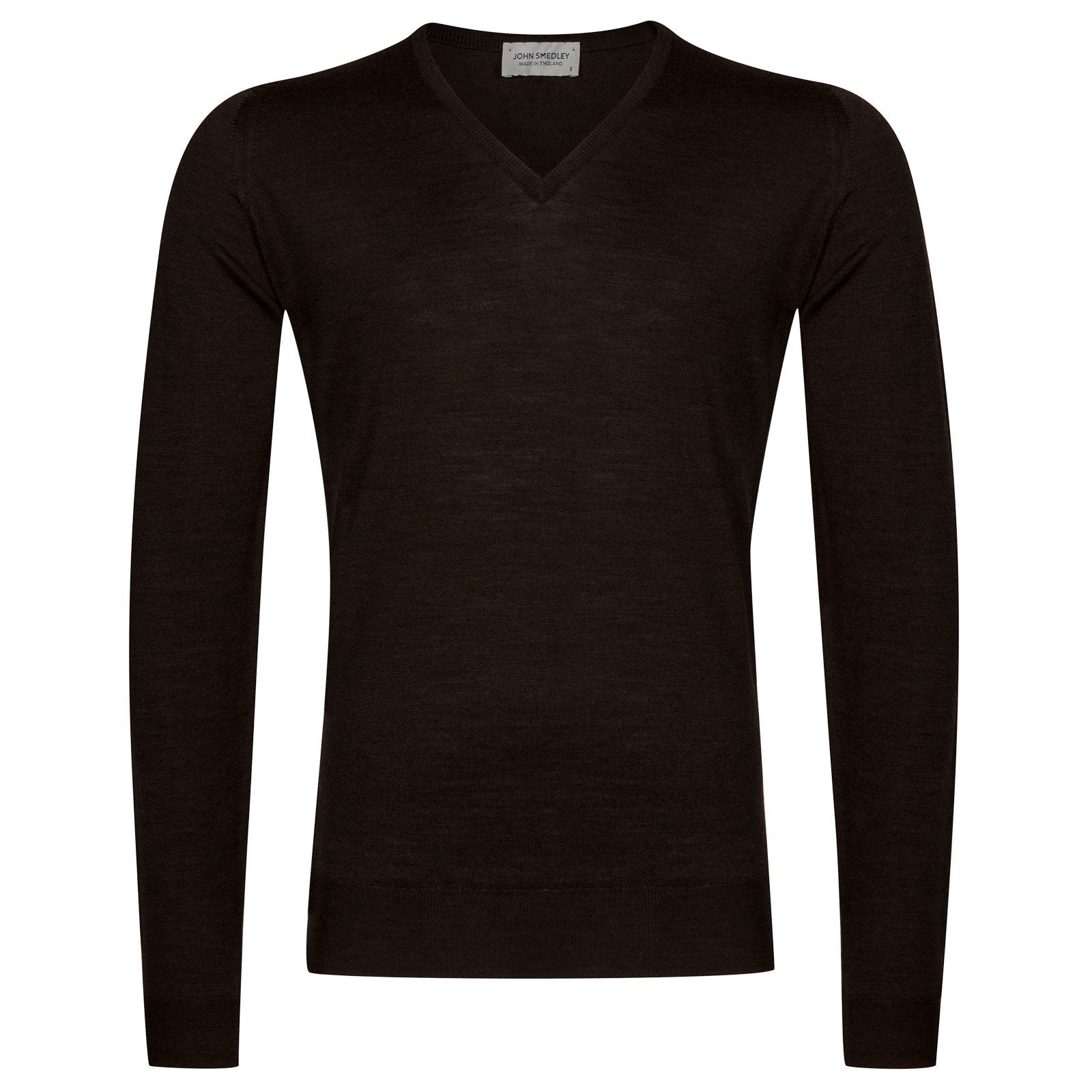 John Smedley Blenheim Merino Wool Pullover in Chestnut-XL