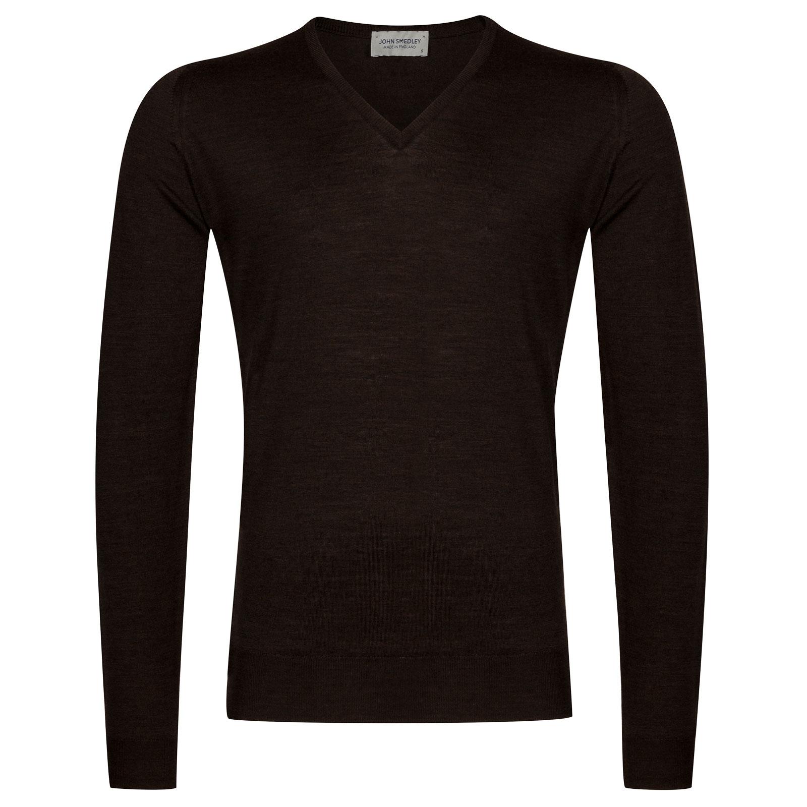 John Smedley Blenheim Merino Wool Pullover in Chestnut-S