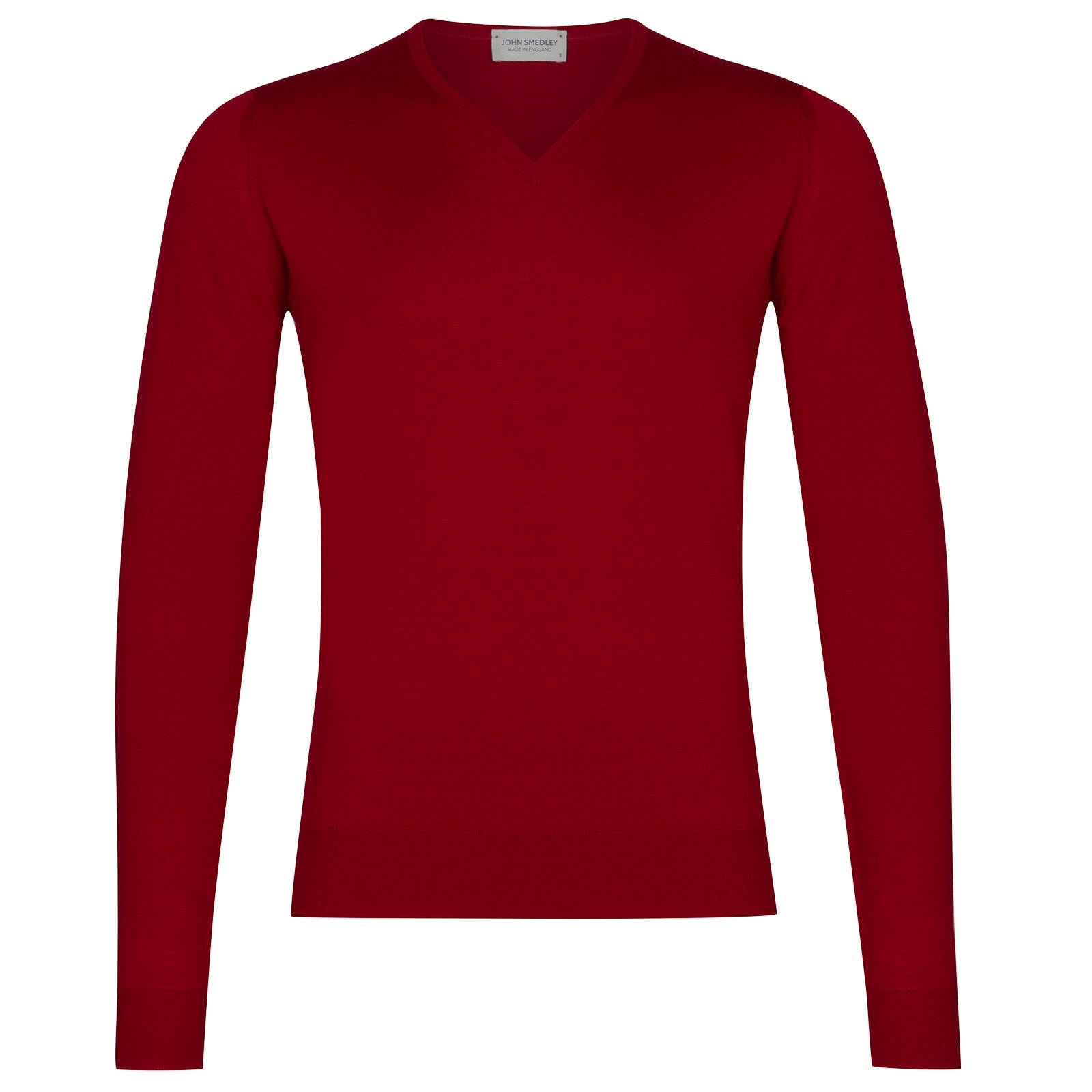 John Smedley Blenheim Merino Wool Pullover in Crimson Forest-XL