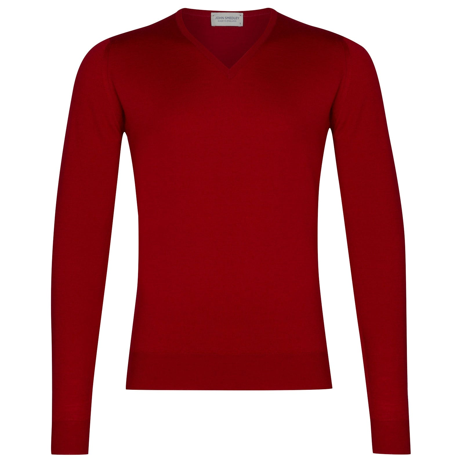 John Smedley Blenheim Merino Wool Pullover in Dandy Red-XXL