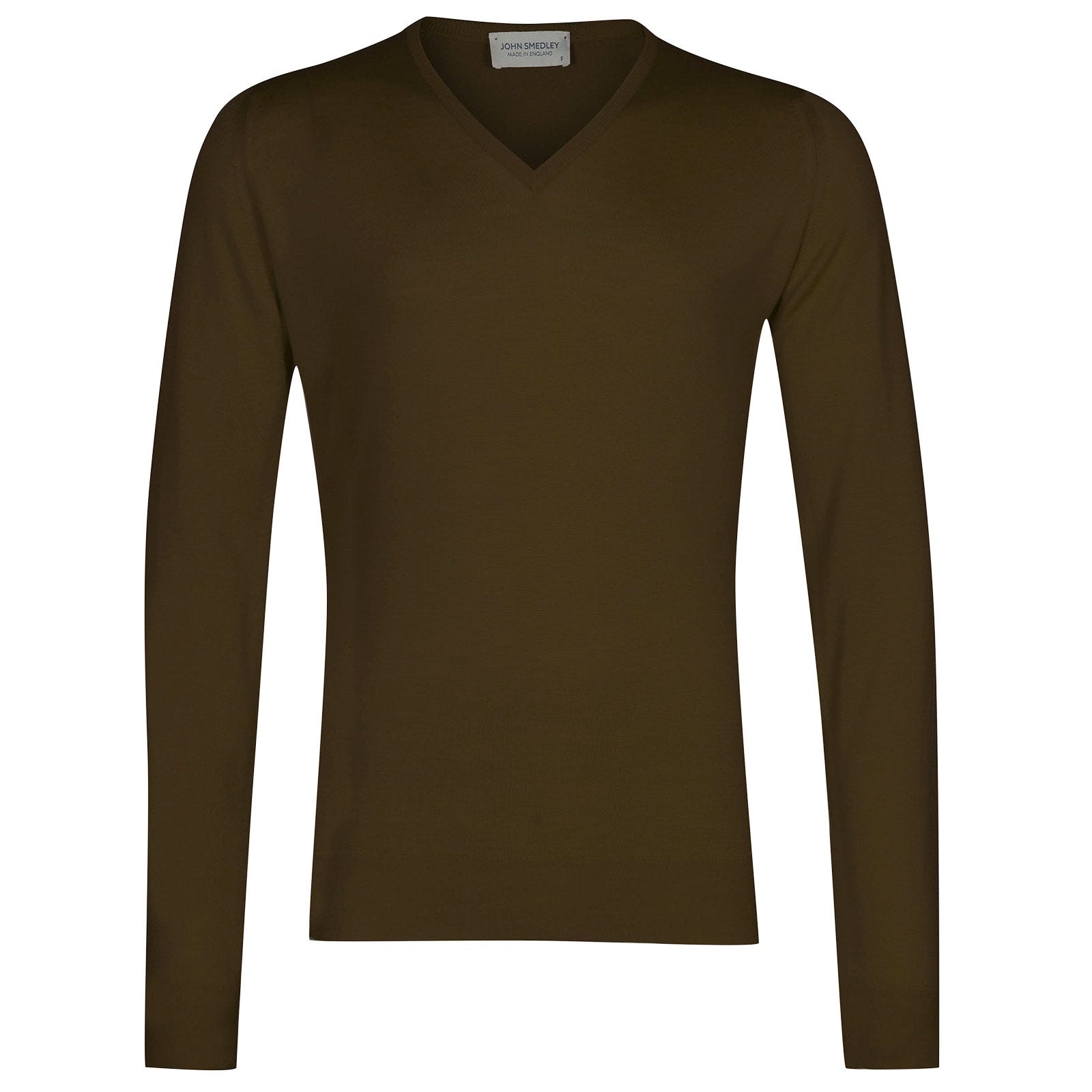 John Smedley Blenheim Merino Wool Pullover in Khaki-XXL