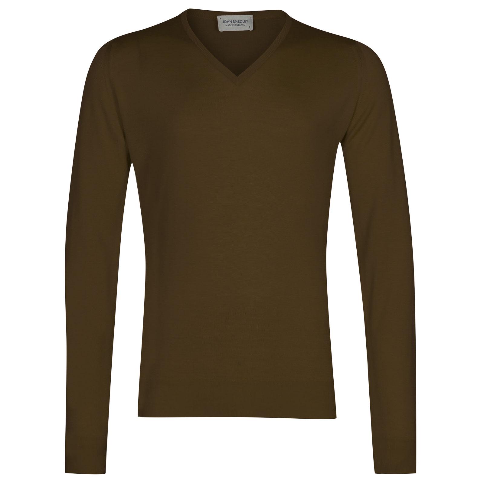 John Smedley Blenheim Merino Wool Pullover in Kielder Green-M