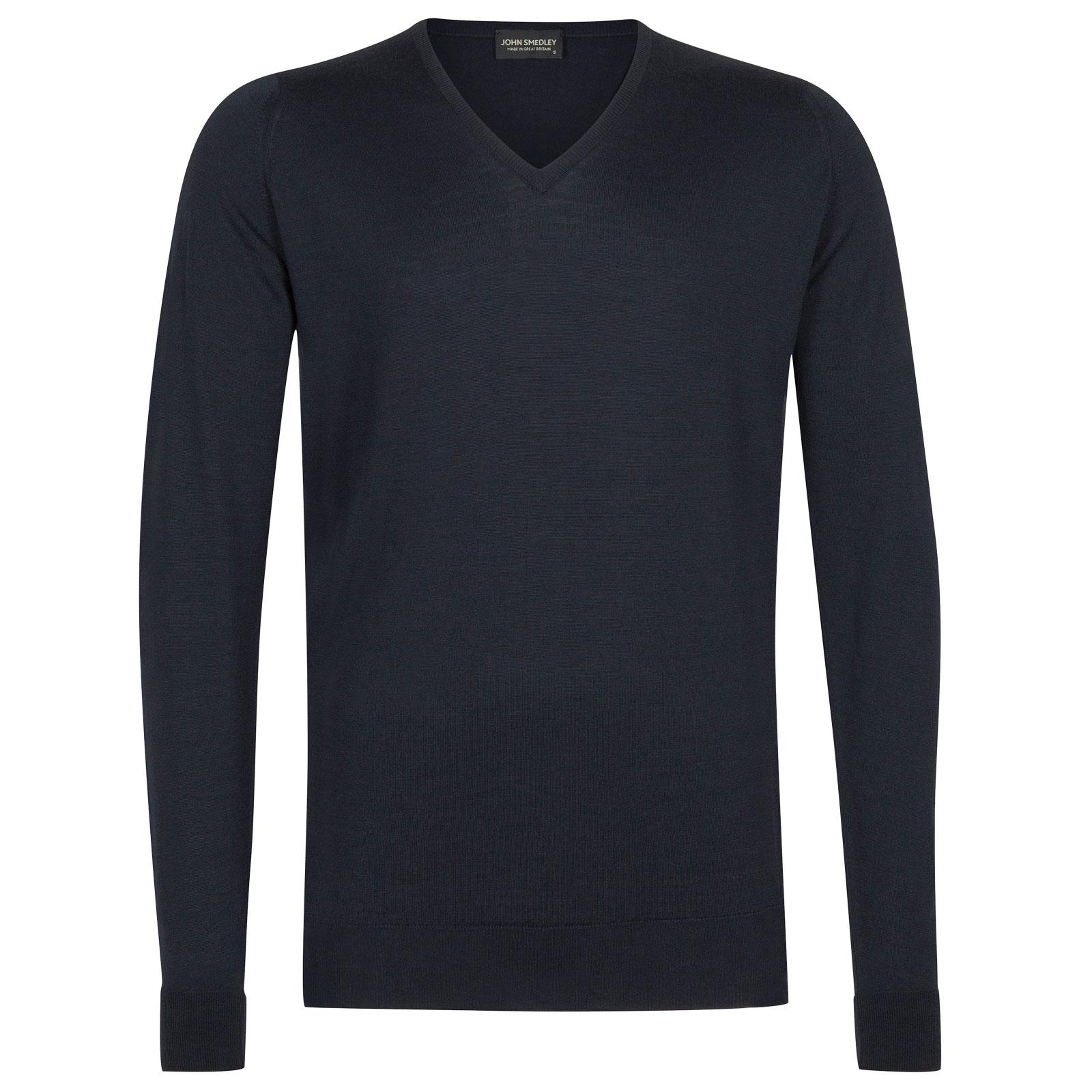 John Smedley Blenheim Merino Wool Pullover in Midnight-S