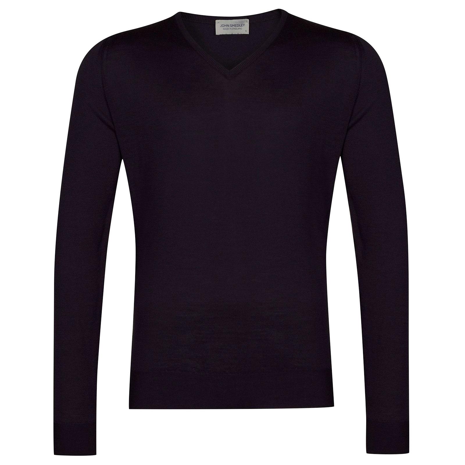 John Smedley Blenheim Merino Wool Pullover in Mystic Purple-L