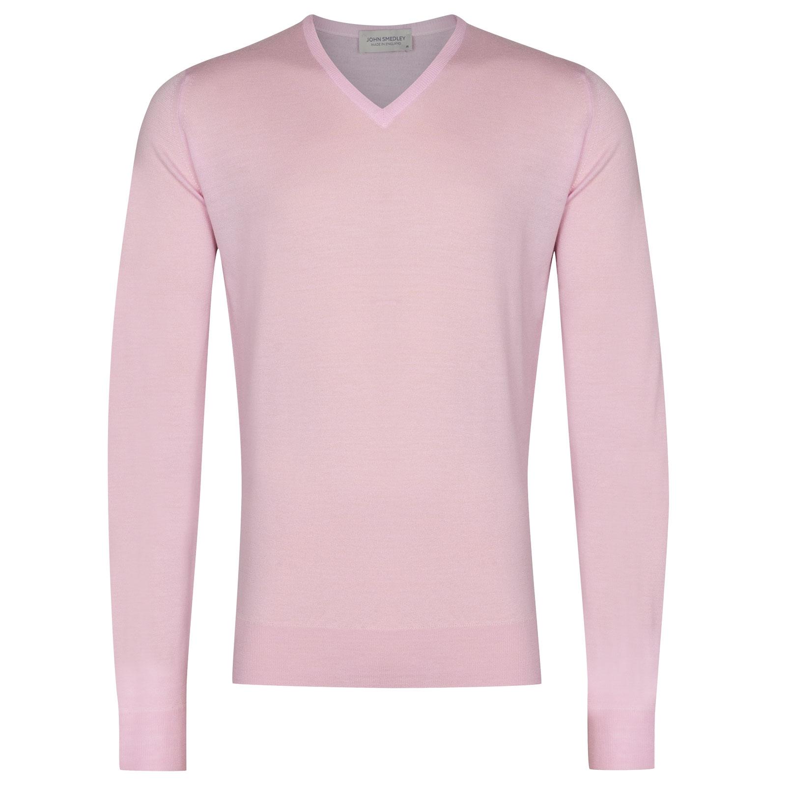 John Smedley Blenheim in Pink Blossom Pullover-XLG