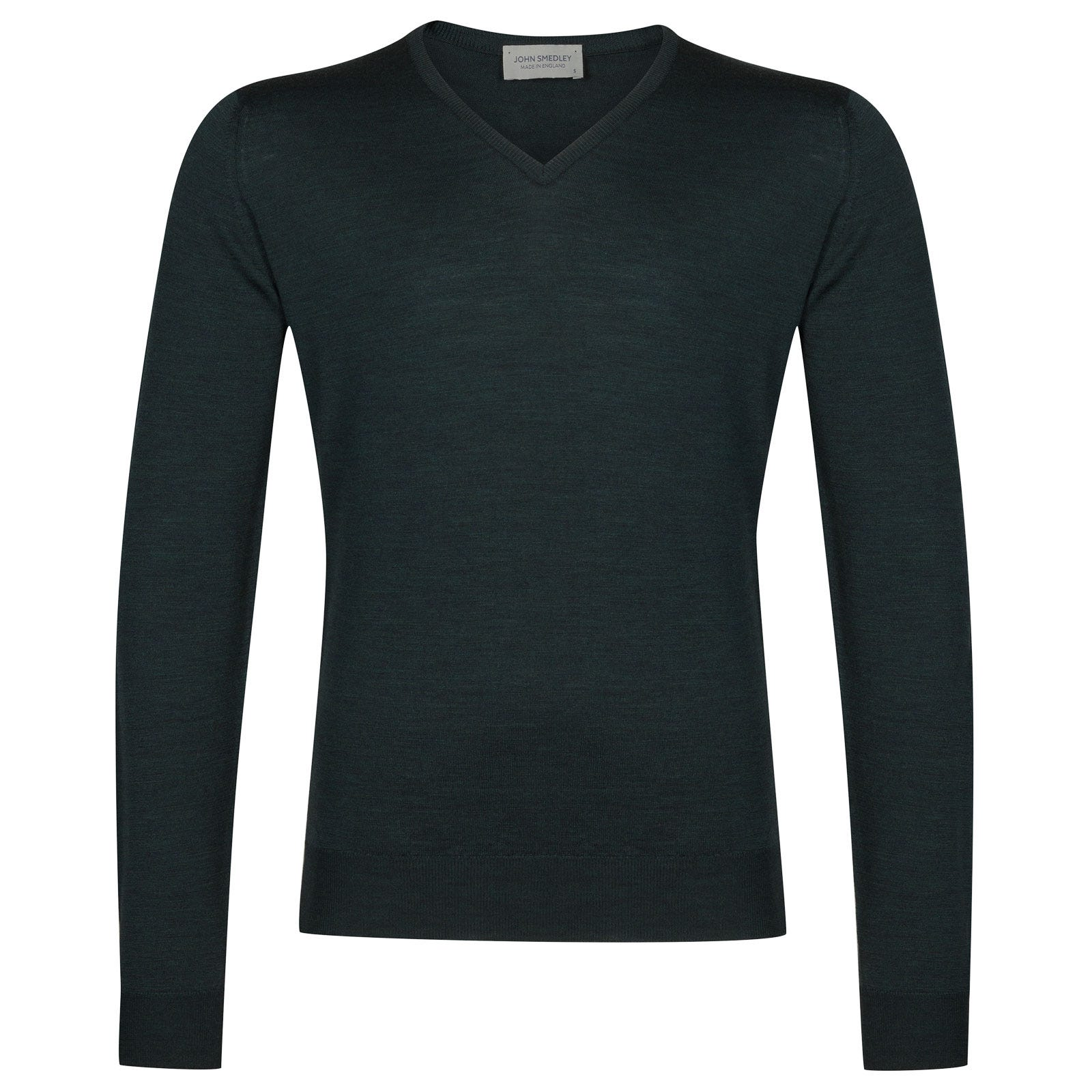 John Smedley Blenheim Merino Wool Pullover in Racing Green-XL
