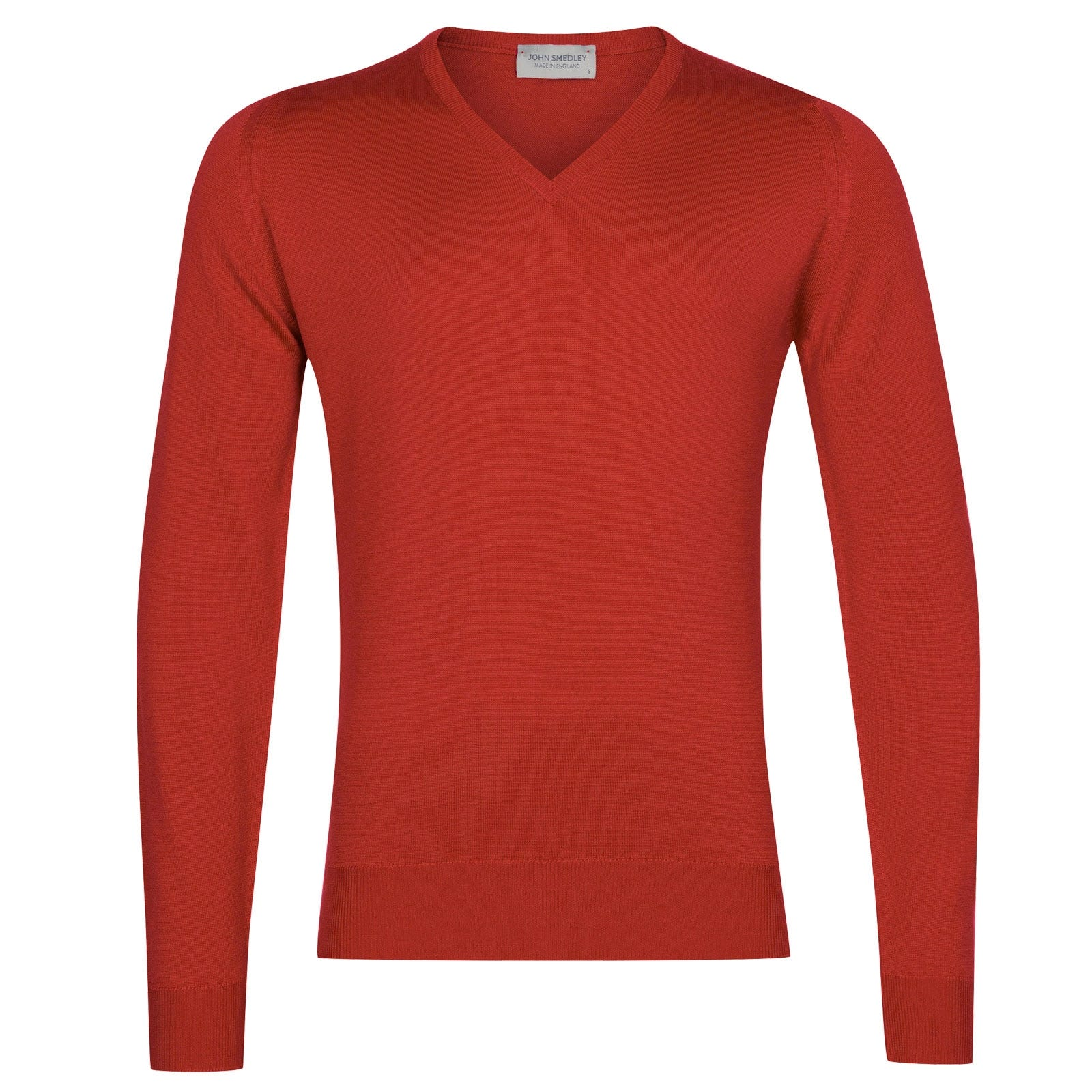 John Smedley Blenheim in Red Admiral Pullover-SML
