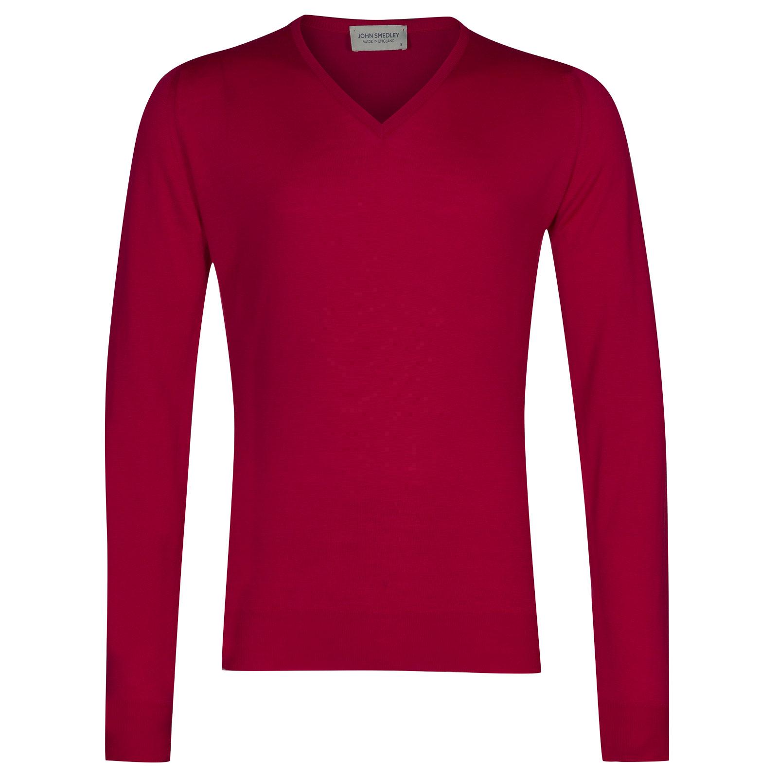 John Smedley Blenheim Merino Wool Pullover in Scarlet Sky-L