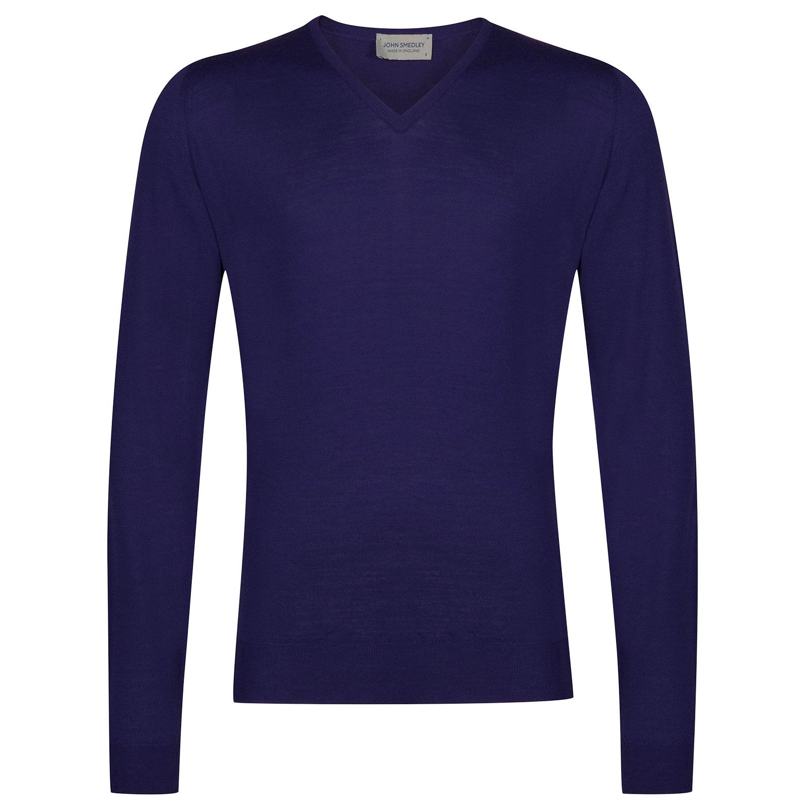 John Smedley Blenheim Merino Wool Pullover in Serge Blue-L