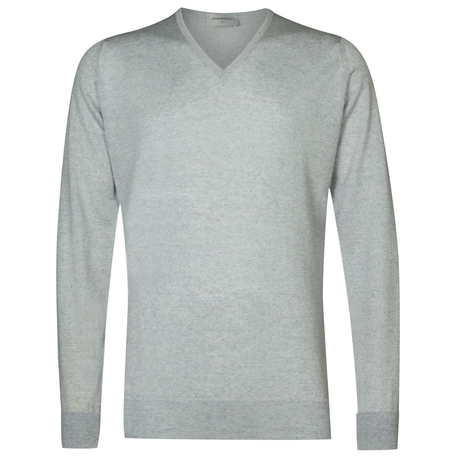 John Smedley bobby Merino Wool Pullover in Bardot Grey-S