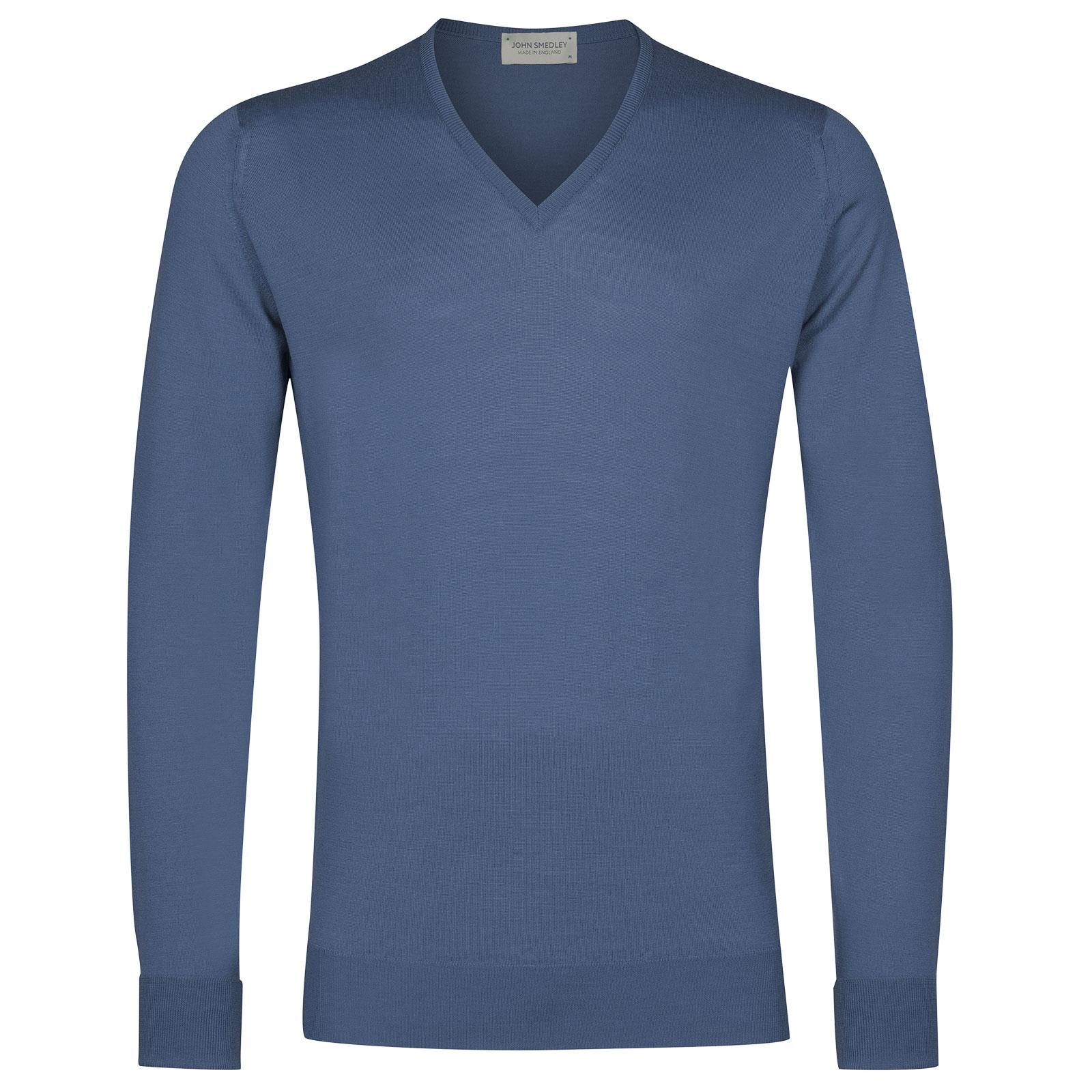 John Smedley Bobby in Blue Iris Pullover-XLG
