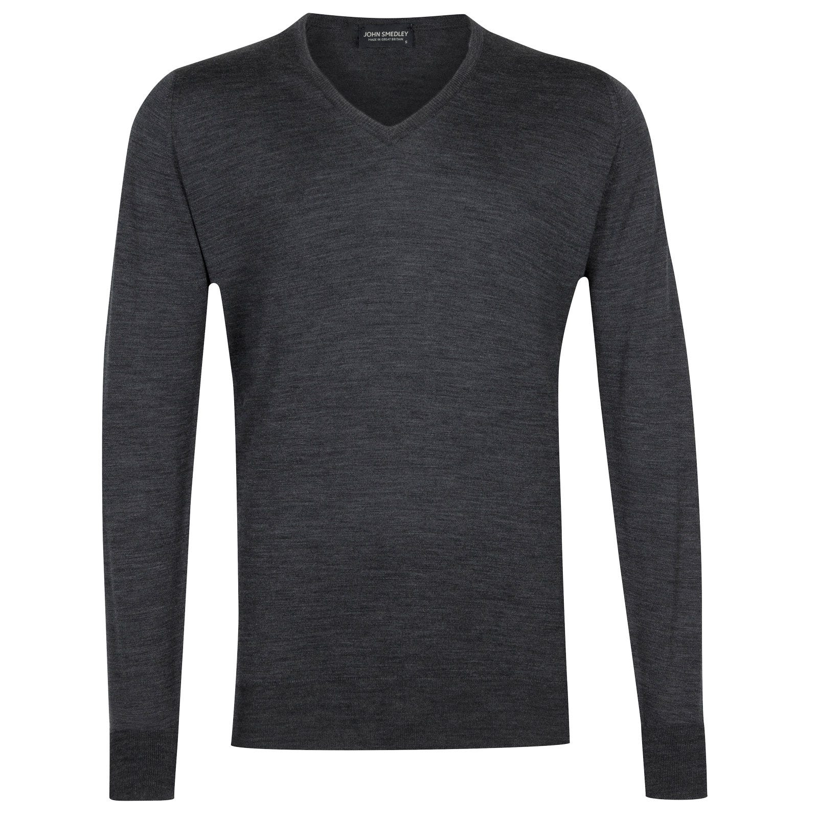 John Smedley bobby Merino Wool Pullover in Charcoal-L