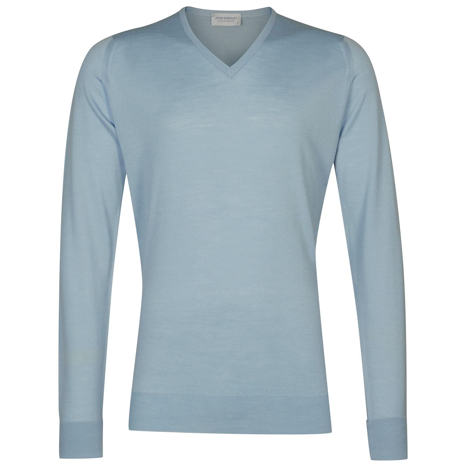John Smedley Bobby in Dusk Blue Pullover-SML