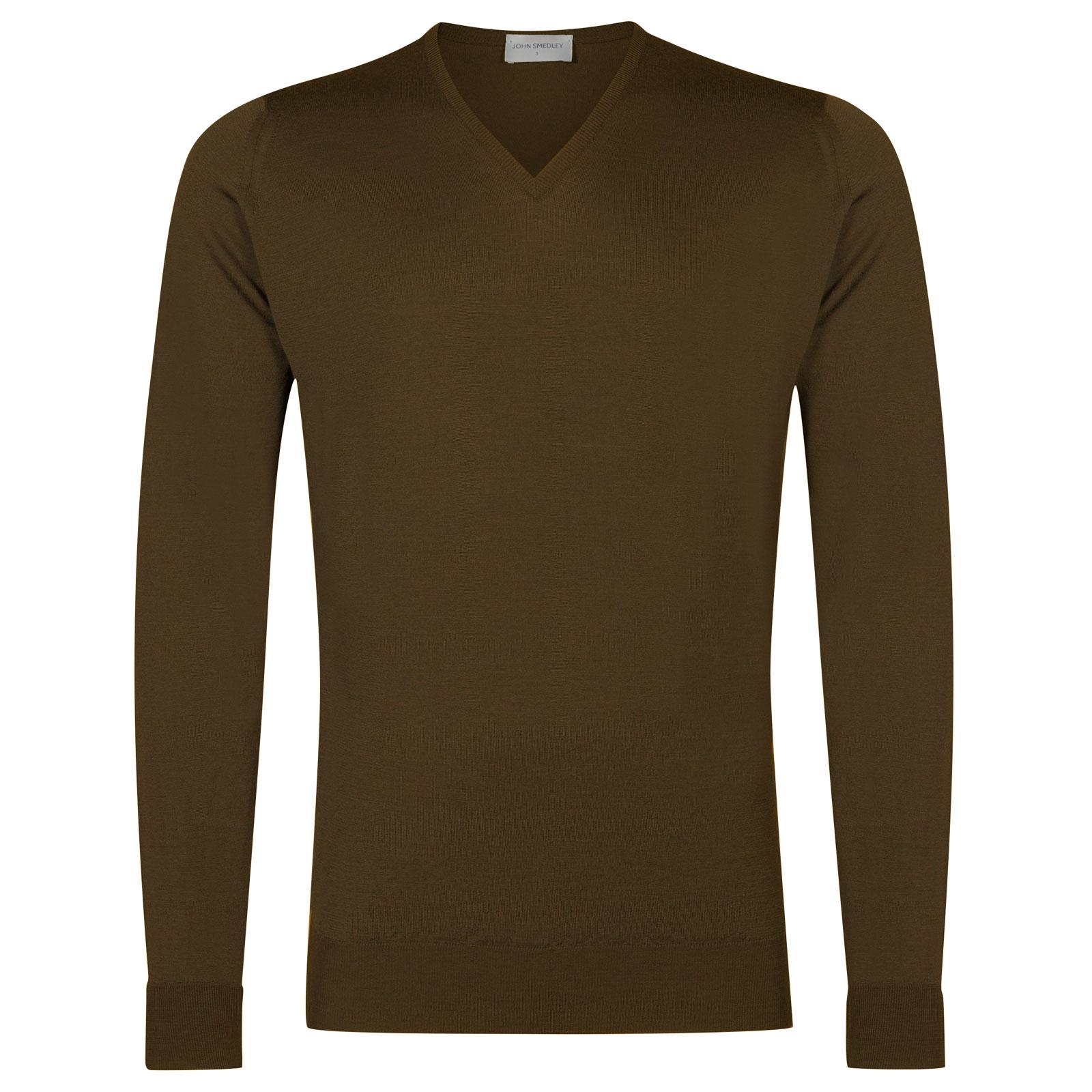John Smedley bobby Merino Wool Pullover in Kielder Green-XXL