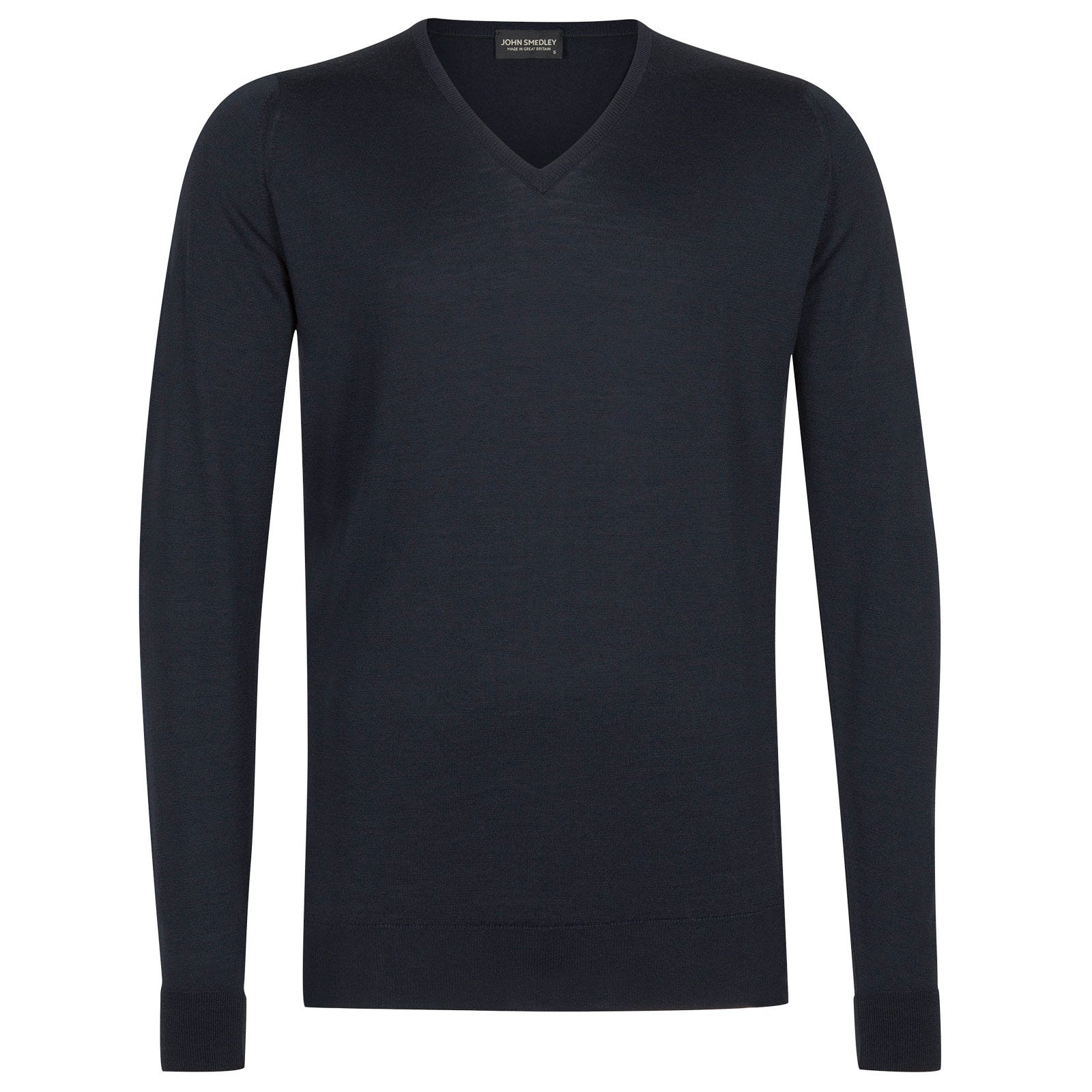 John Smedley bobby Merino Wool Pullover in Midnight-xs