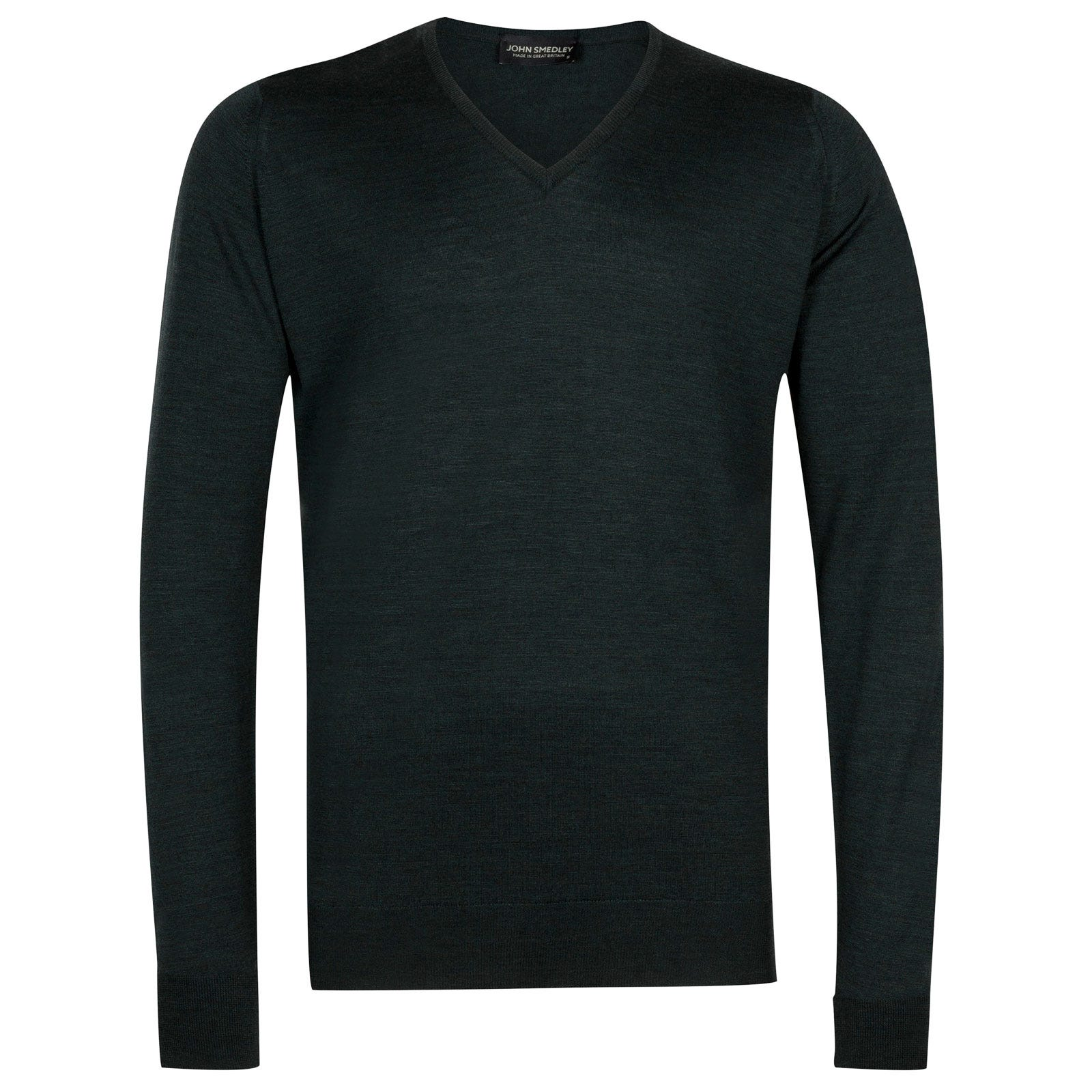 John Smedley bobby Merino Wool Pullover in Racing Green-XL