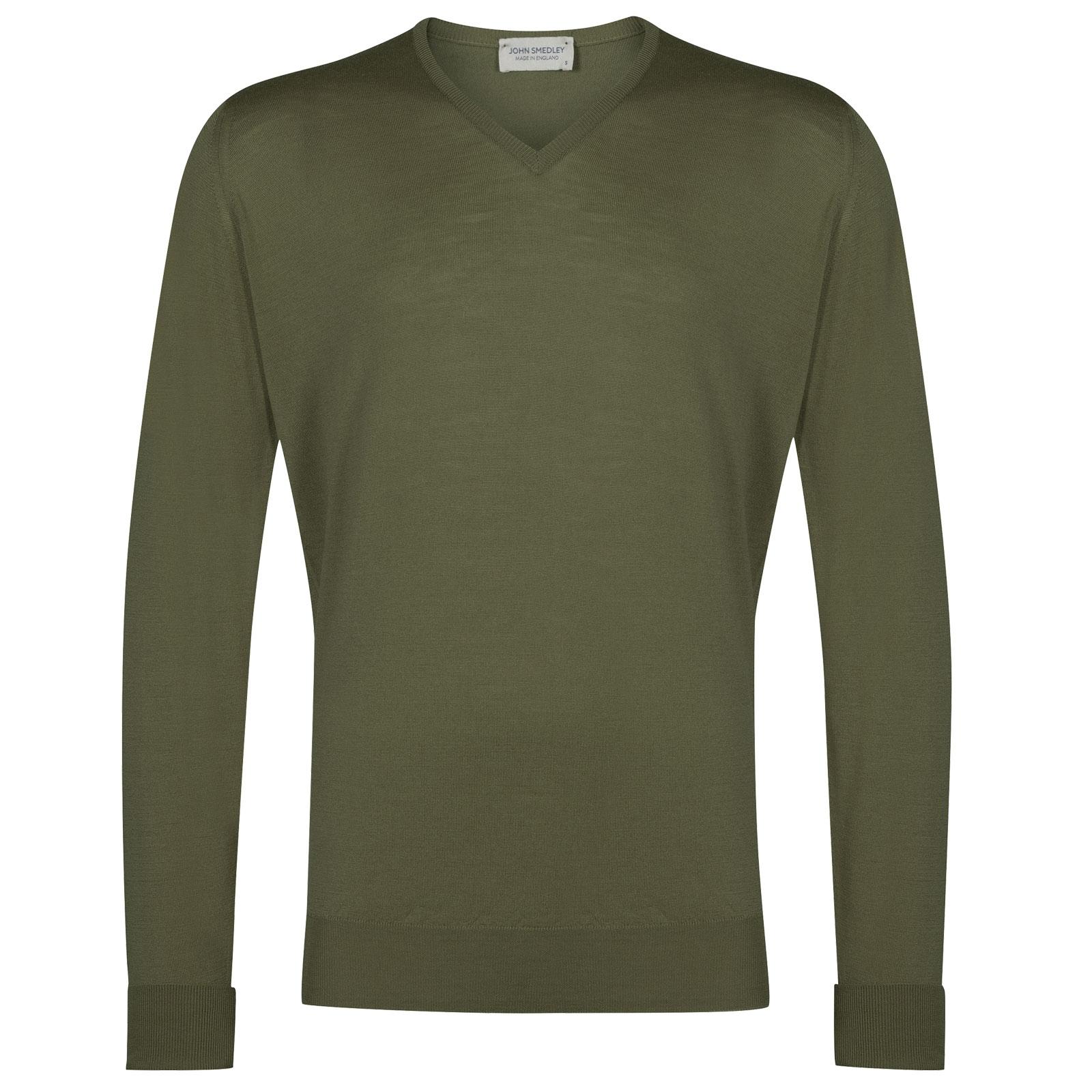 John Smedley Bobby in Sepal Green Pullover-MED