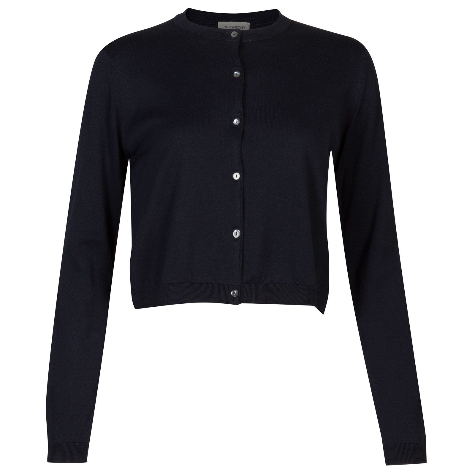 John Smedley Bowes Sea Island Cotton Cardigan in Navy-XL