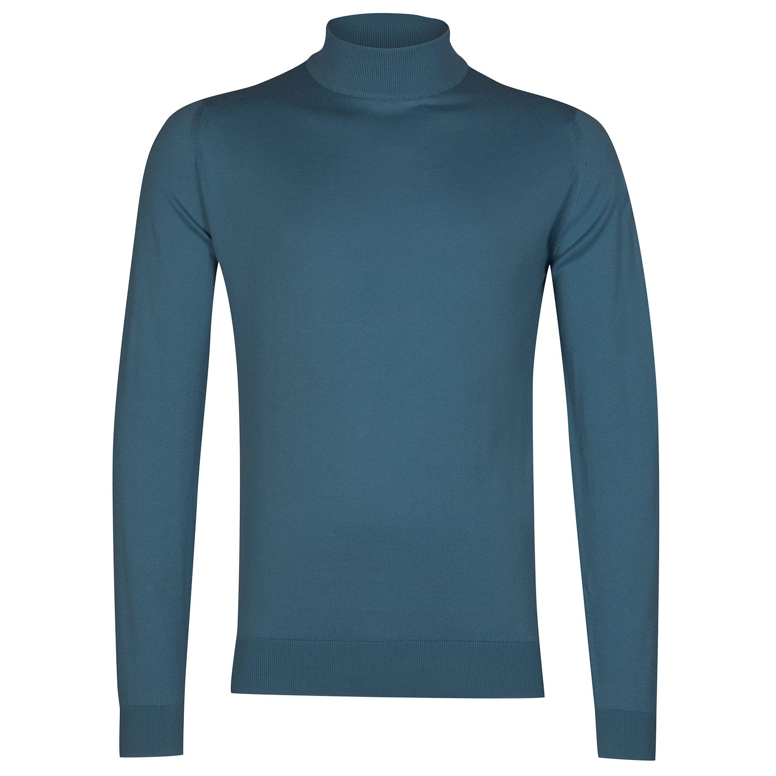 John Smedley Bradgate Sea Island Cotton Pullover in Bias Blue-S