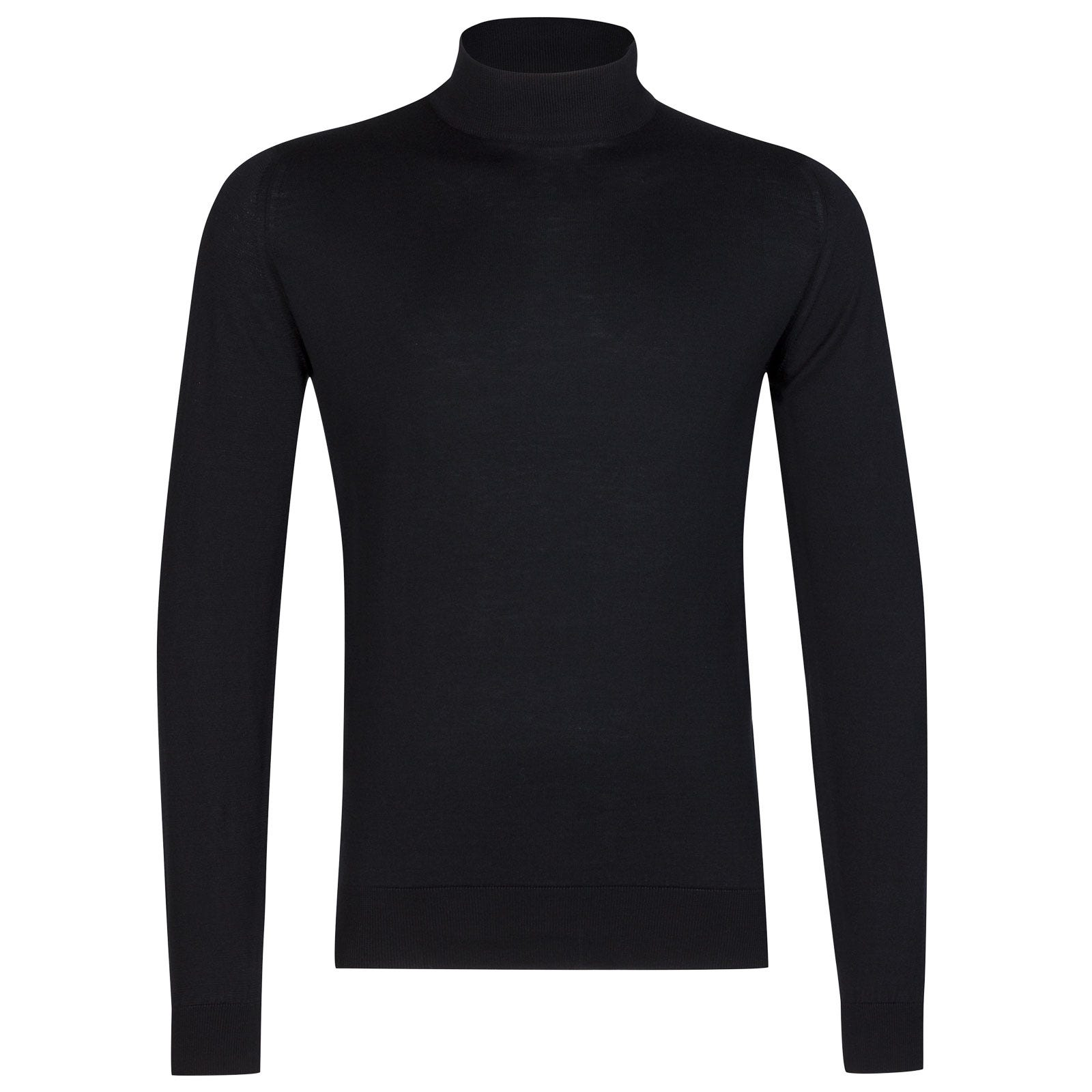 John Smedley Bradgate Sea Island Cotton Pullover in Black-XXL