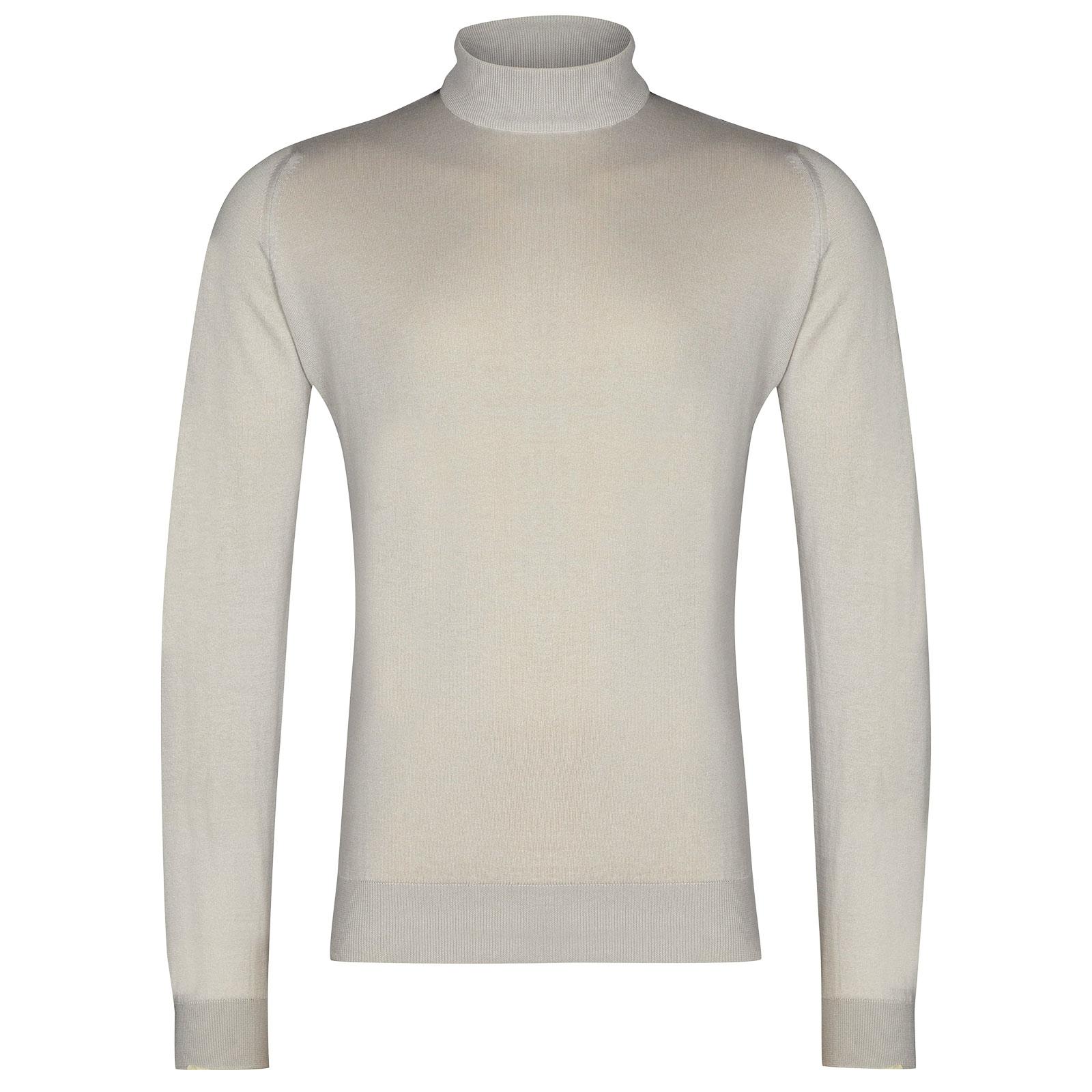 John Smedley Bradgate Sea Island Cotton Pullover in Brunel Beige-L