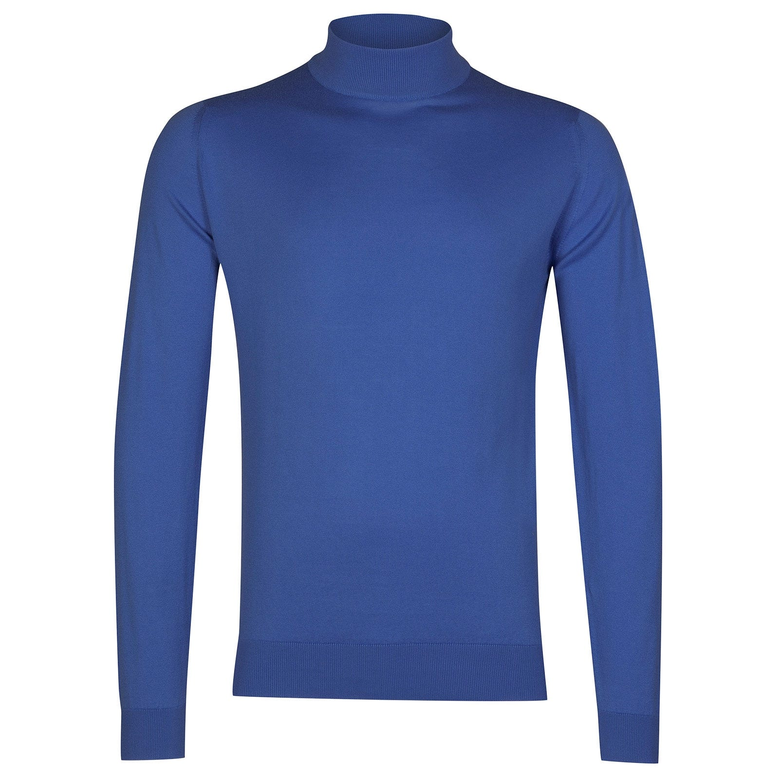 John Smedley Bradgate Sea Island Cotton Pullover in Chambray Blue-M