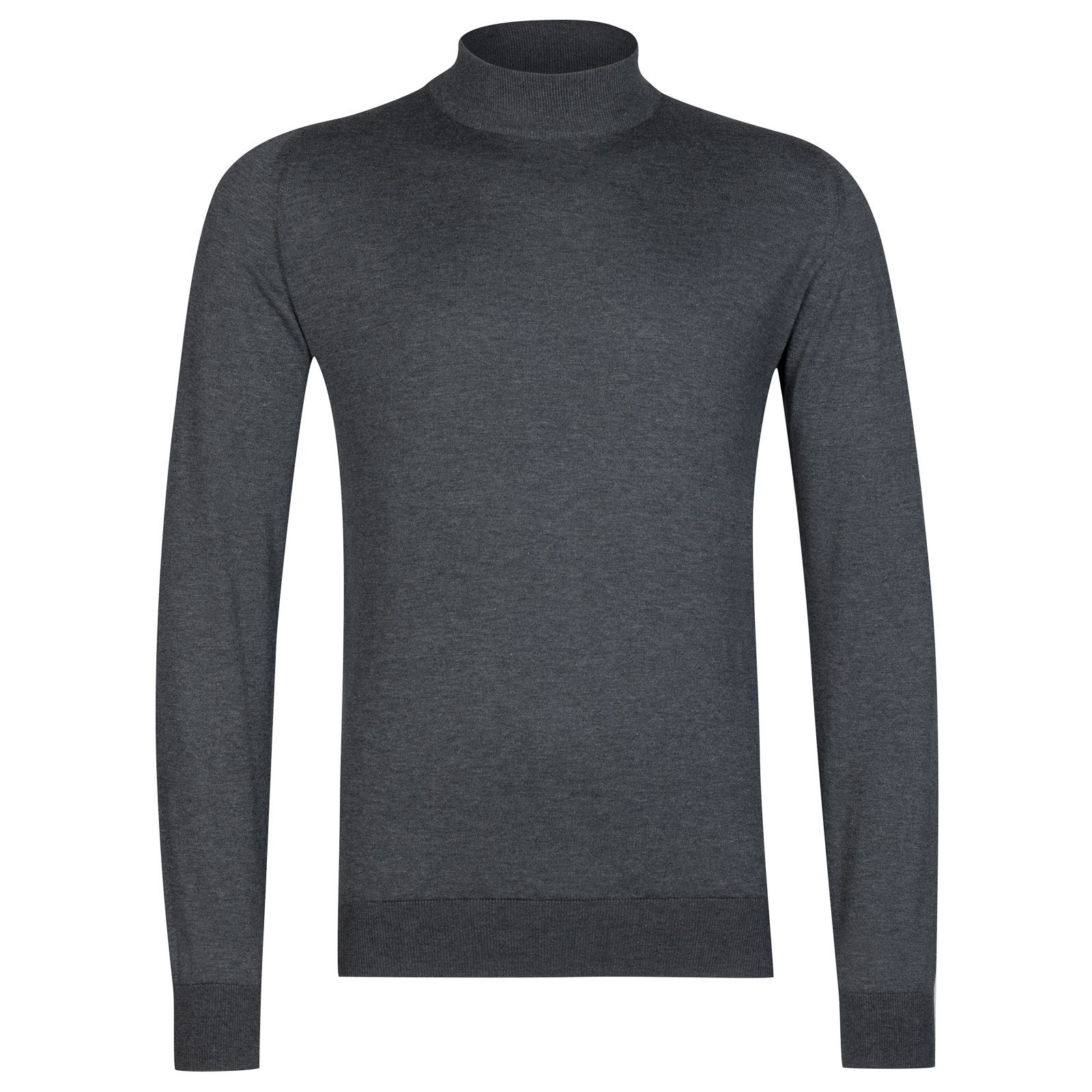 John Smedley Bradgate Sea Island Cotton Pullover in Charcoal-M