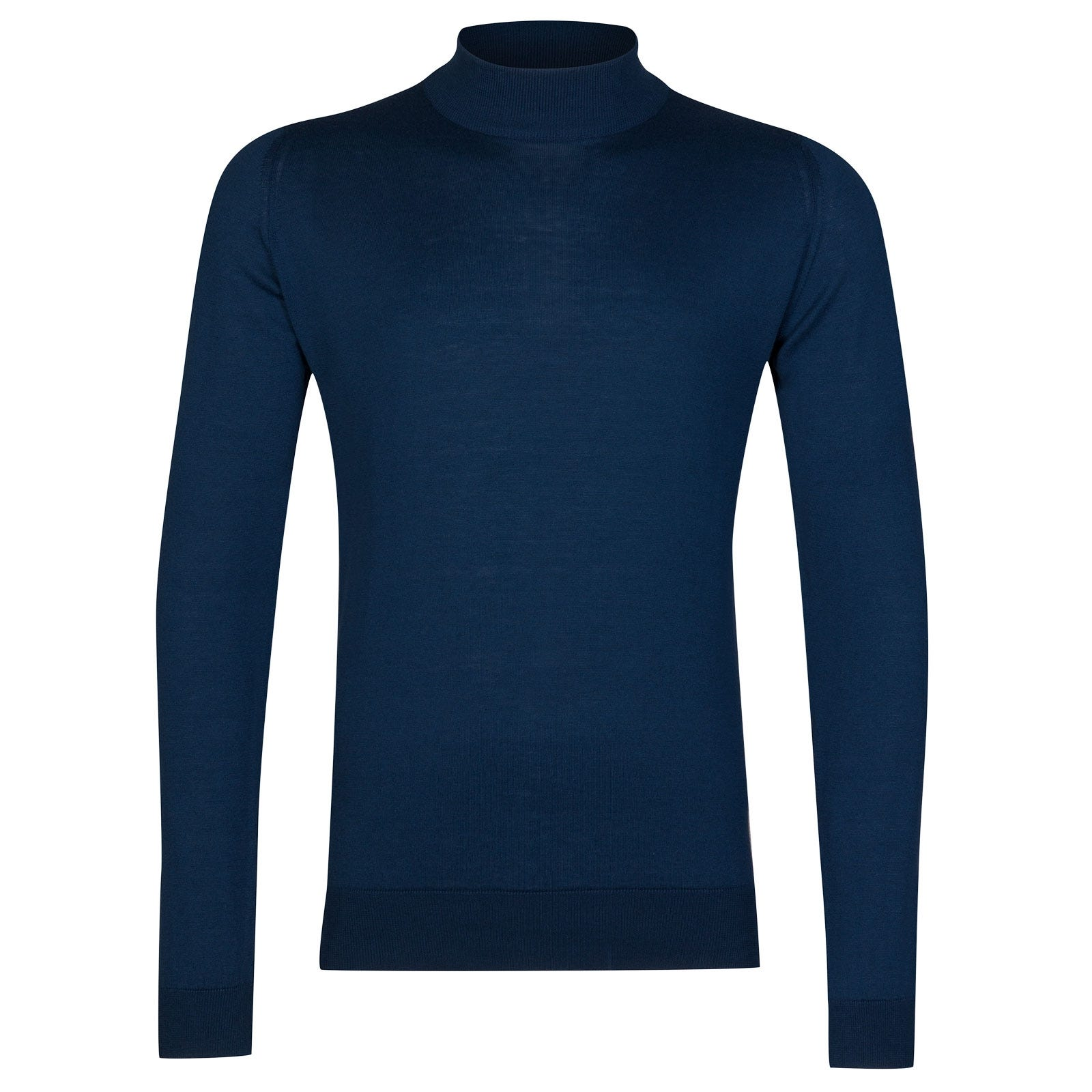 John Smedley Bradgate Sea Island Cotton Pullover in Indigo-XS