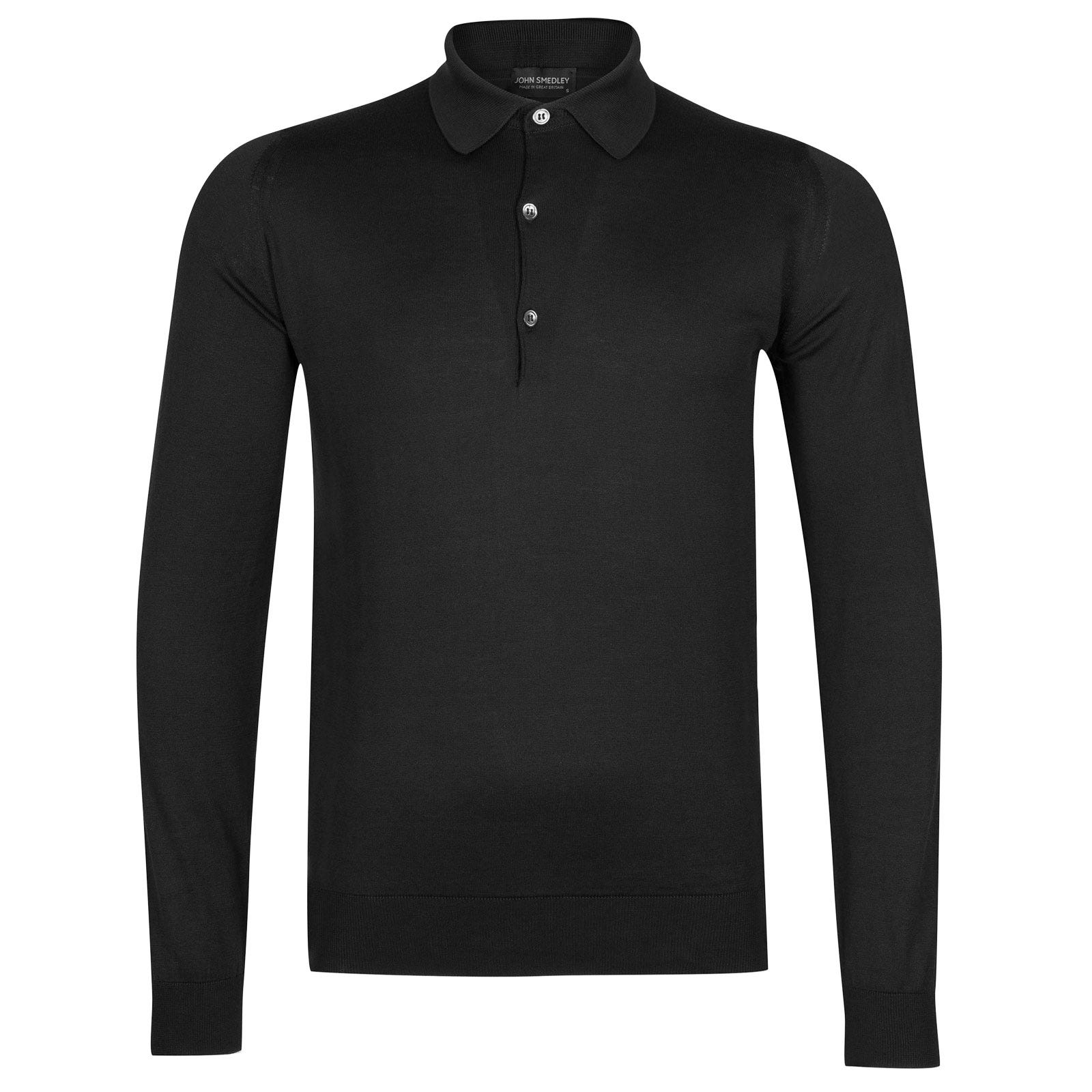 John Smedley bradwell Sea Island Cotton Shirt in Black-S