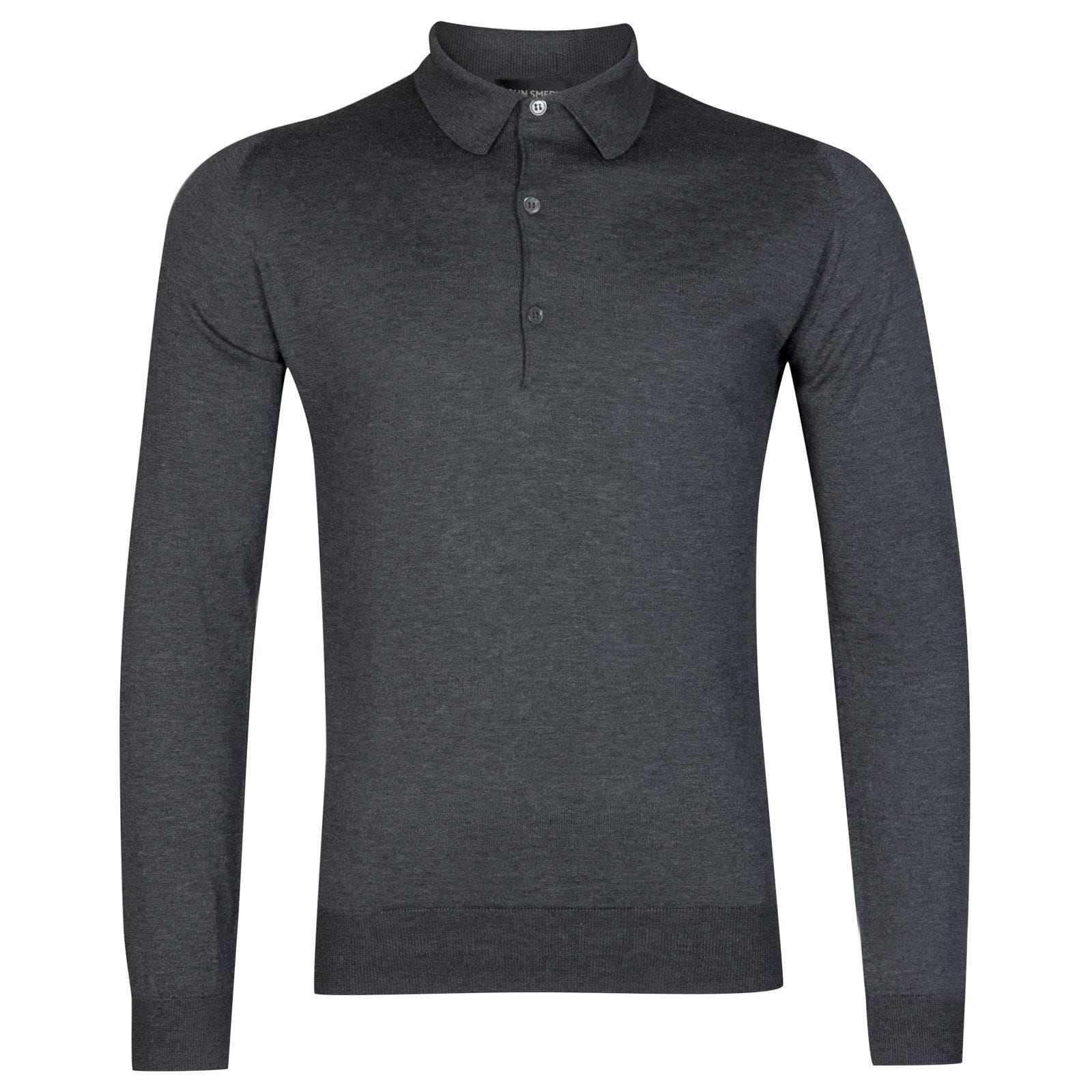 John Smedley bradwell Sea Island Cotton Shirt in Charcoal-M