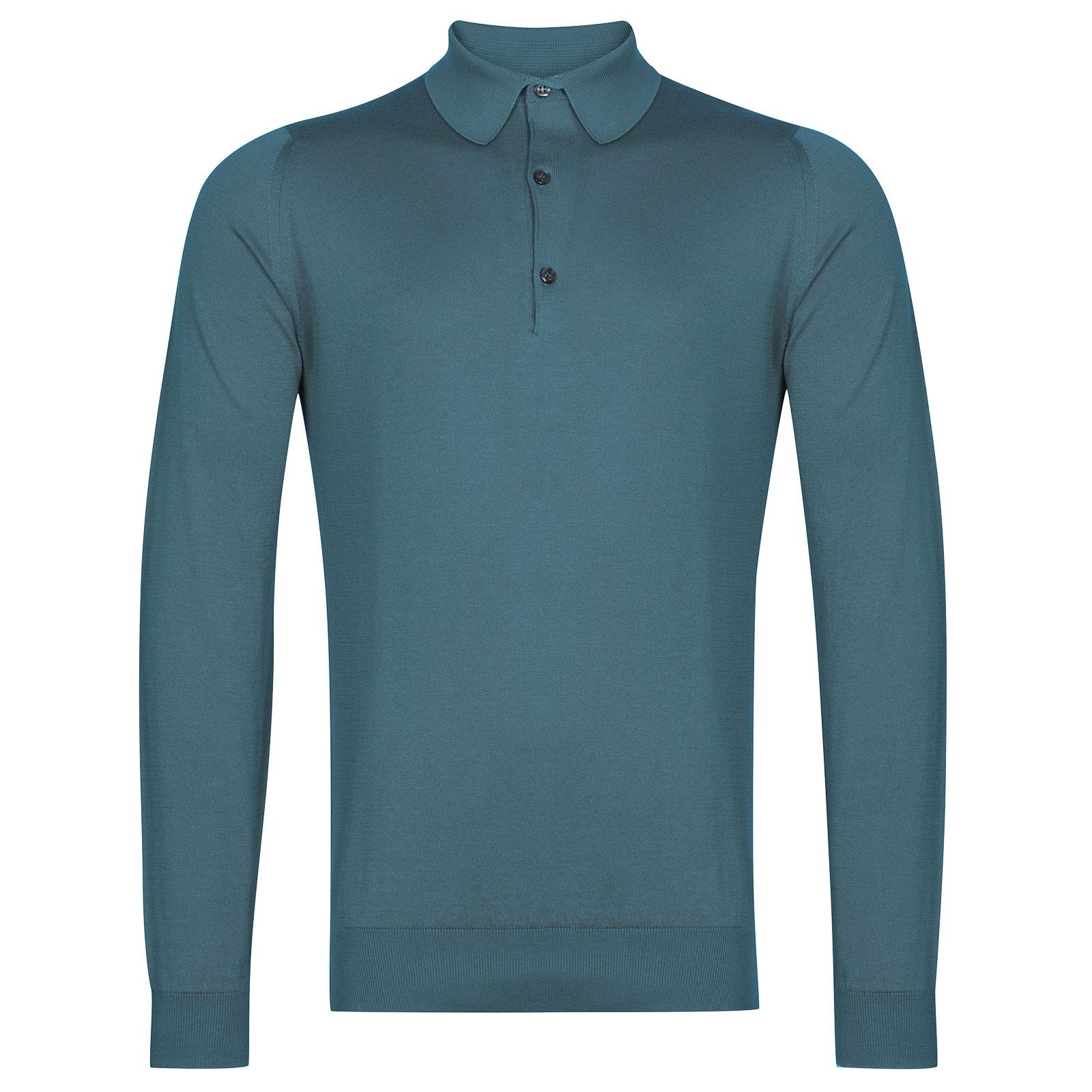 John Smedley Bradwell in Dewdrop Blue Shirt-XLG