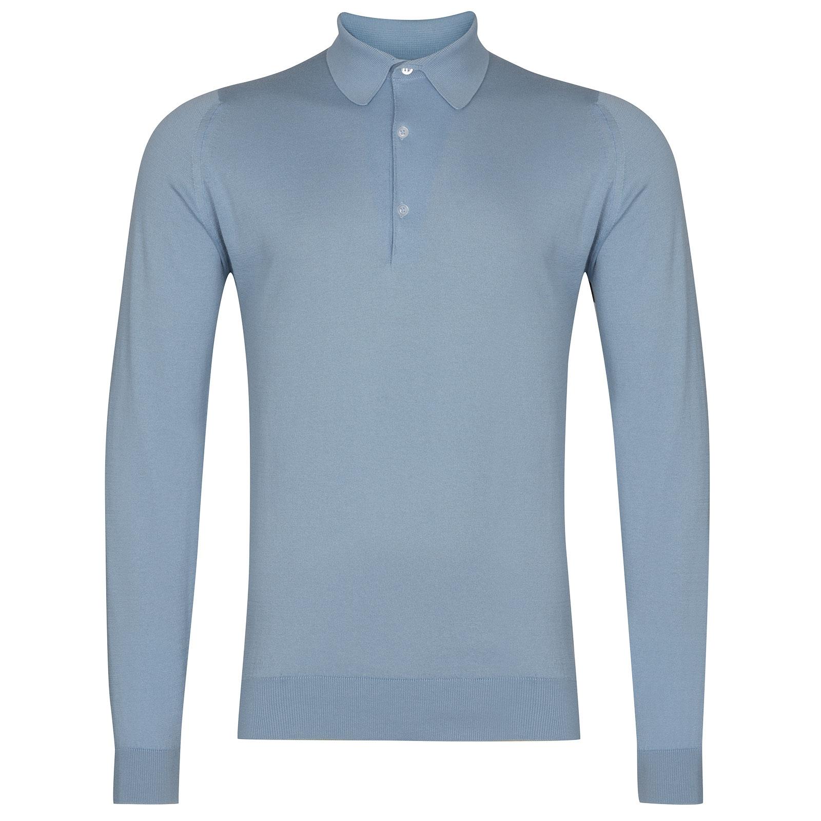 John Smedley Bradwell in Dusk Blue Shirt-XLG