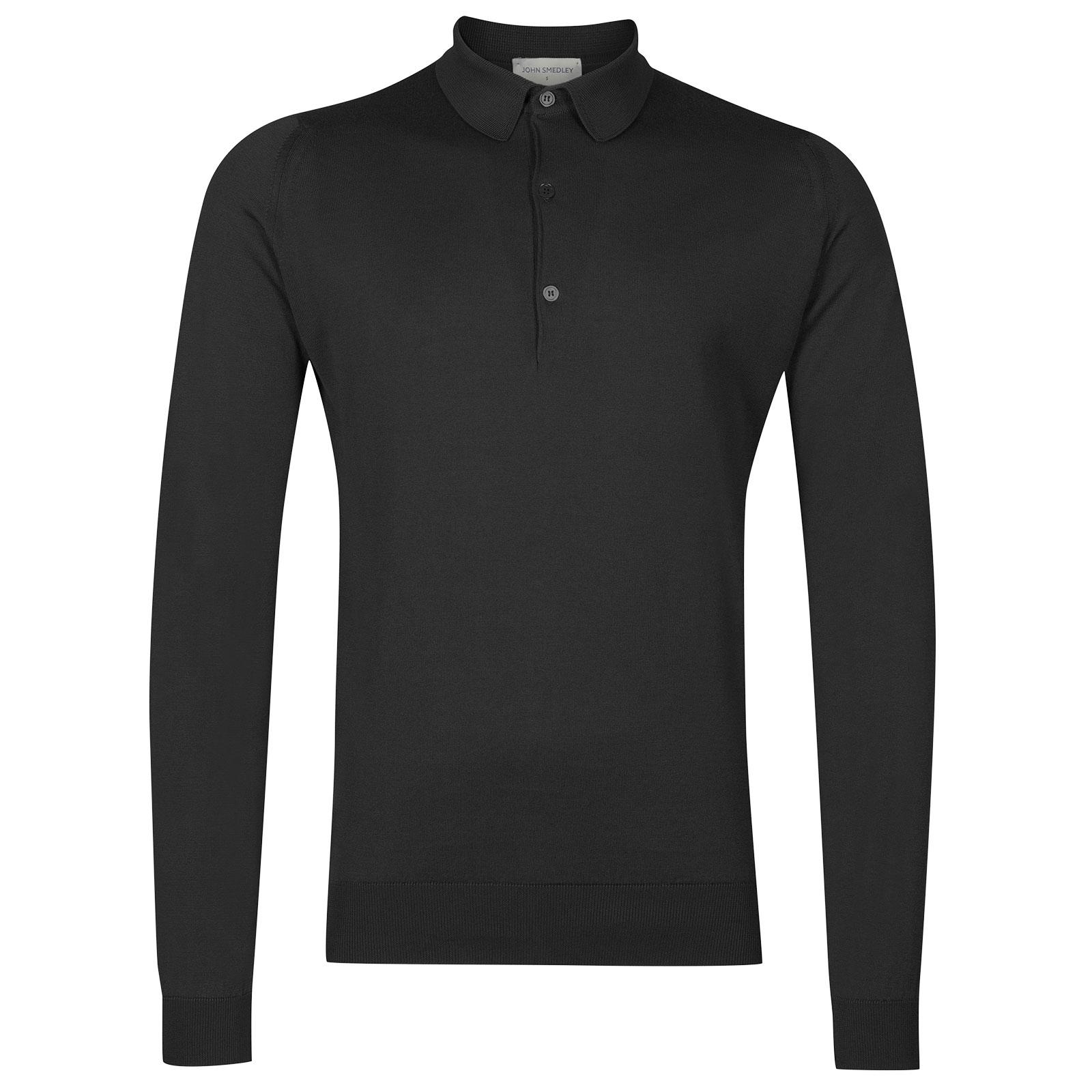 John Smedley Bradwell in Flannel Grey Shirt-SML