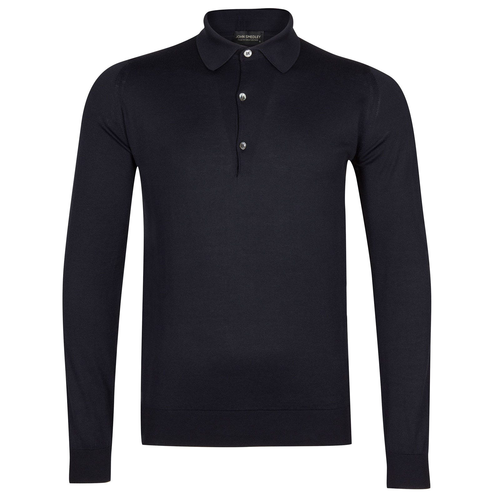 John Smedley bradwell Sea Island Cotton Shirt in Navy-XXL